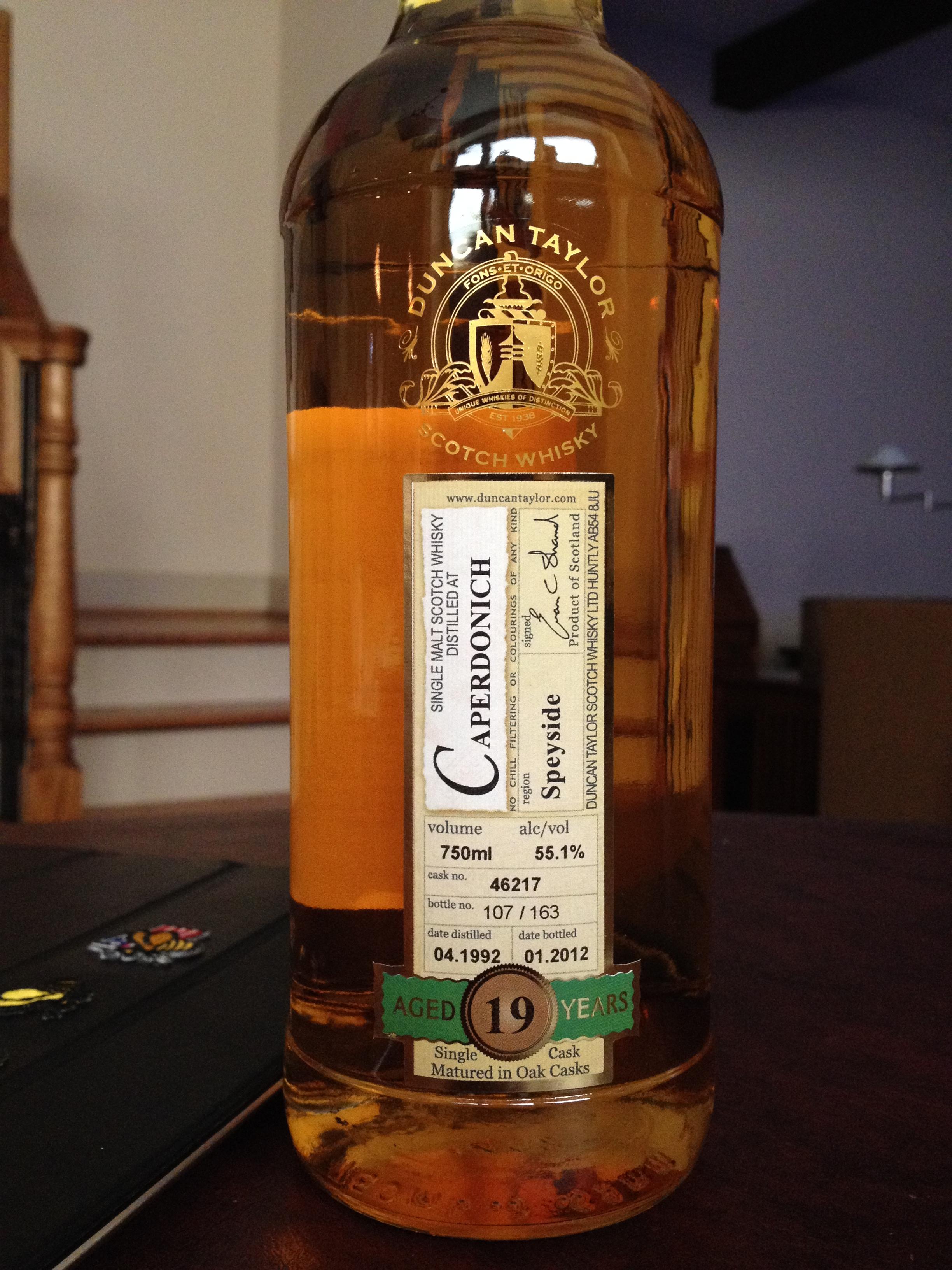 19 Year Old   55.1% ABV - Distillery   Caperdonich