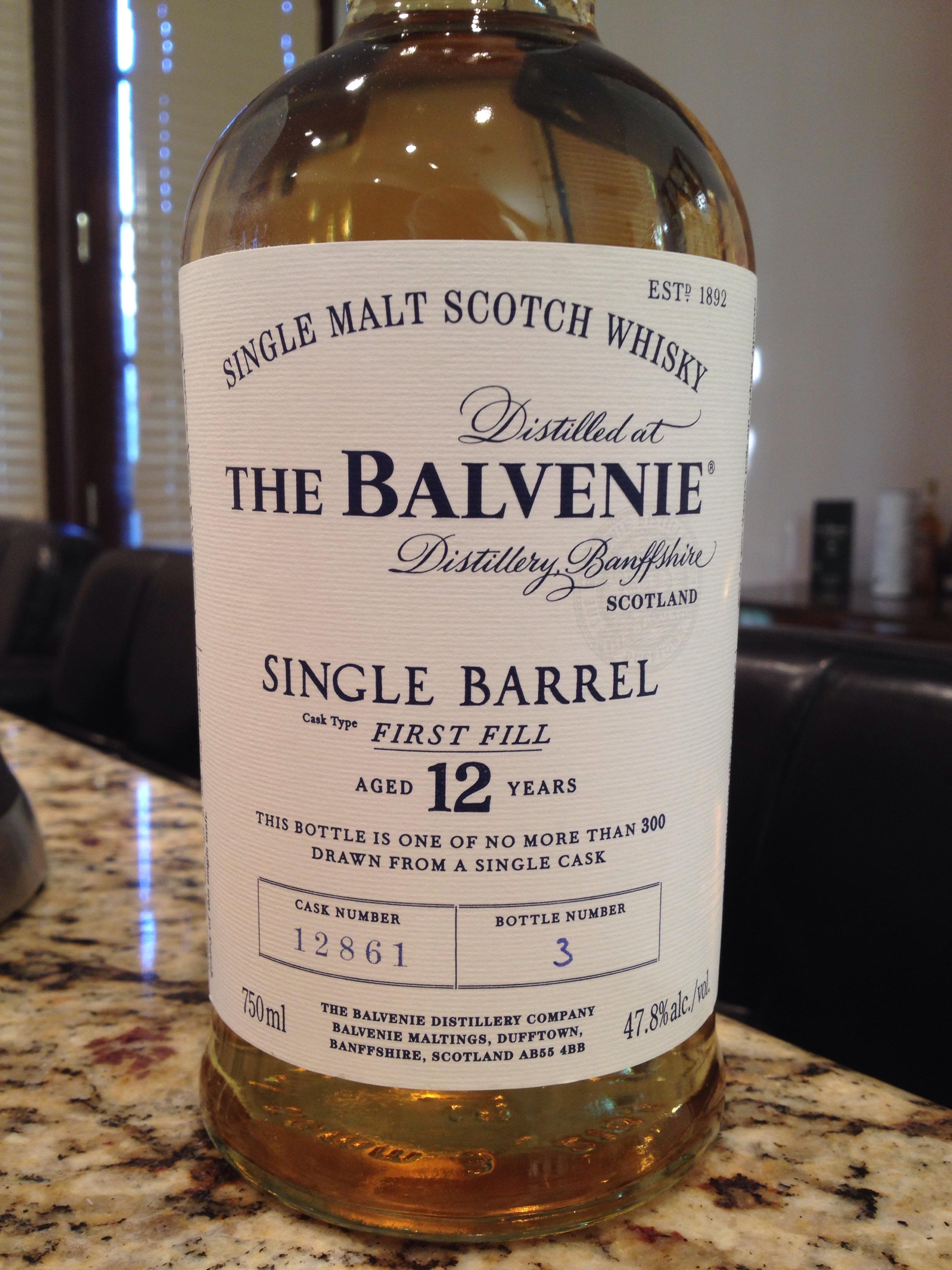 12 Year Old   47.8% ABV - Distillery   Balvenie