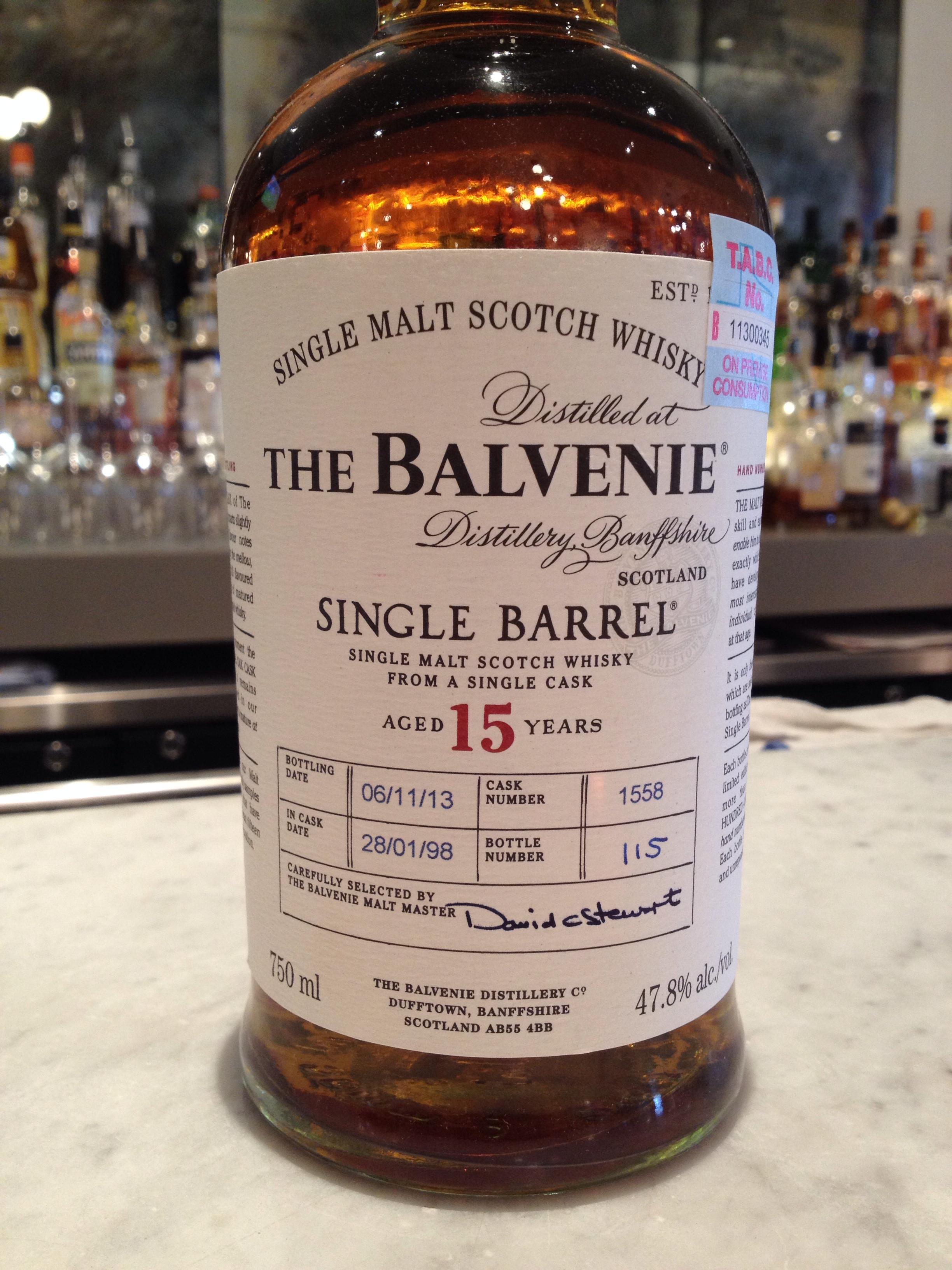 15 Year Old   47.8% ABV - Distillery   Balvenie
