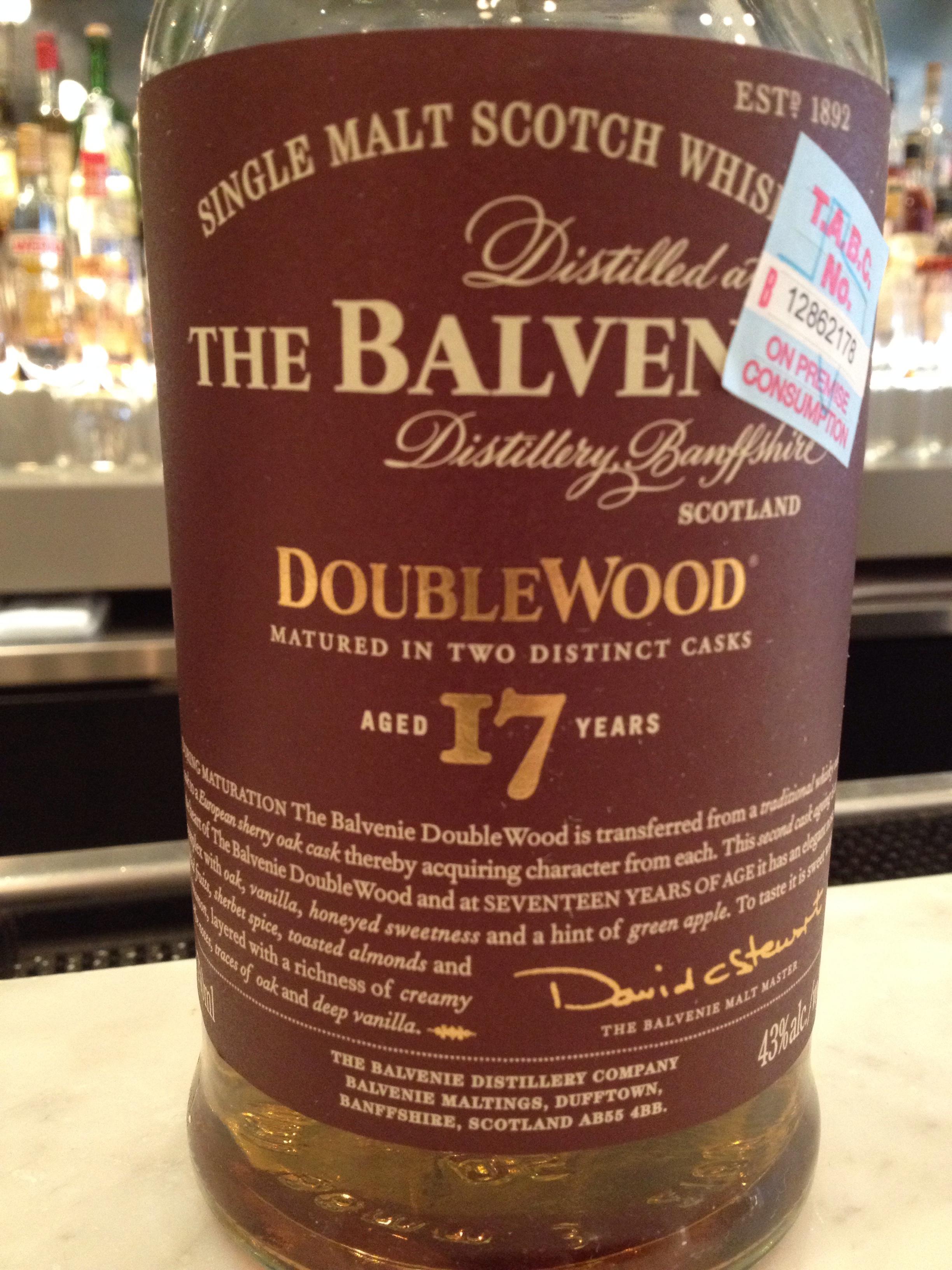 17 Year Old   43% ABV - Distillery   Balvenie