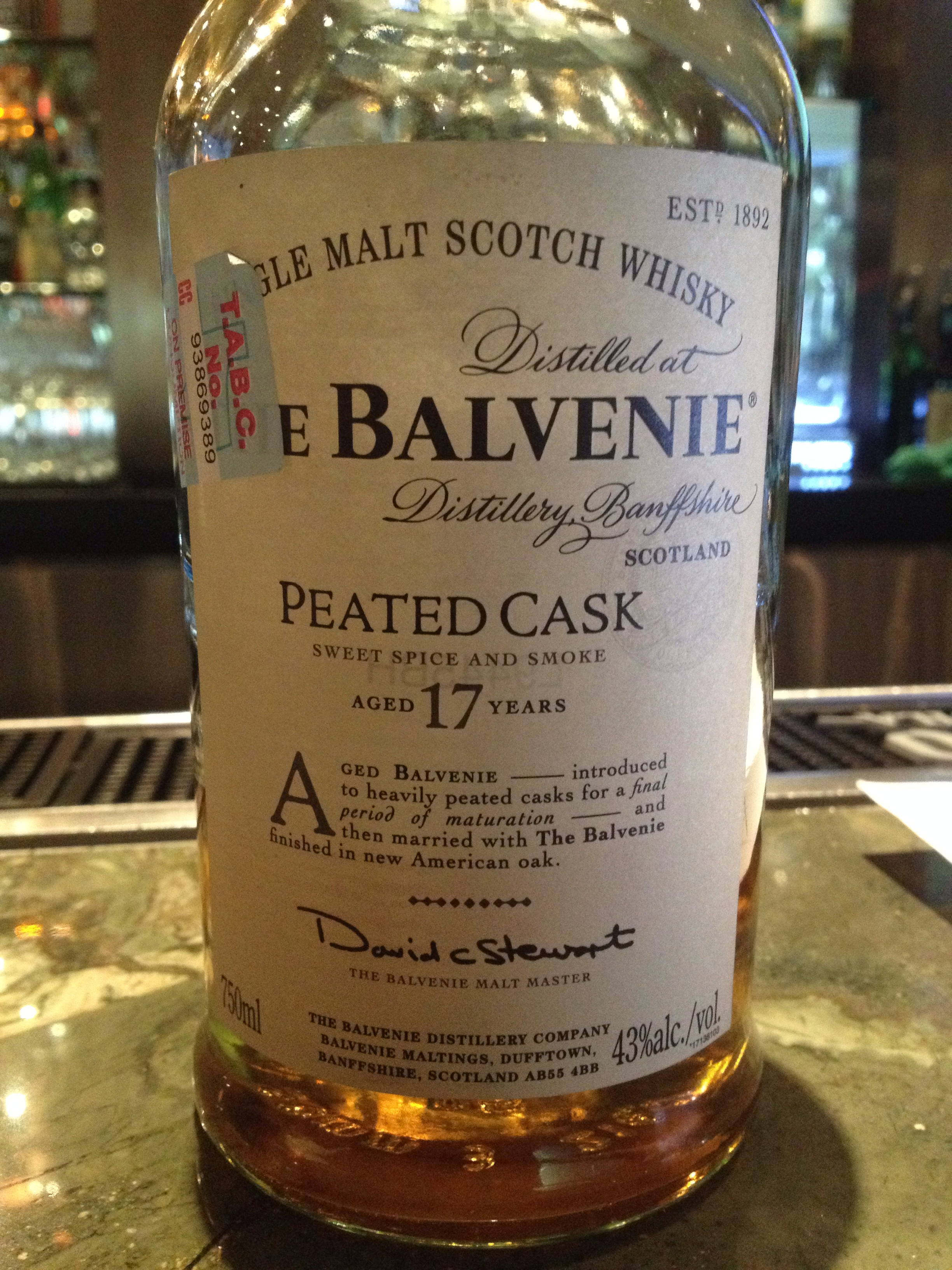 17 Year Old | 43% ABV - Distillery | Balvenie