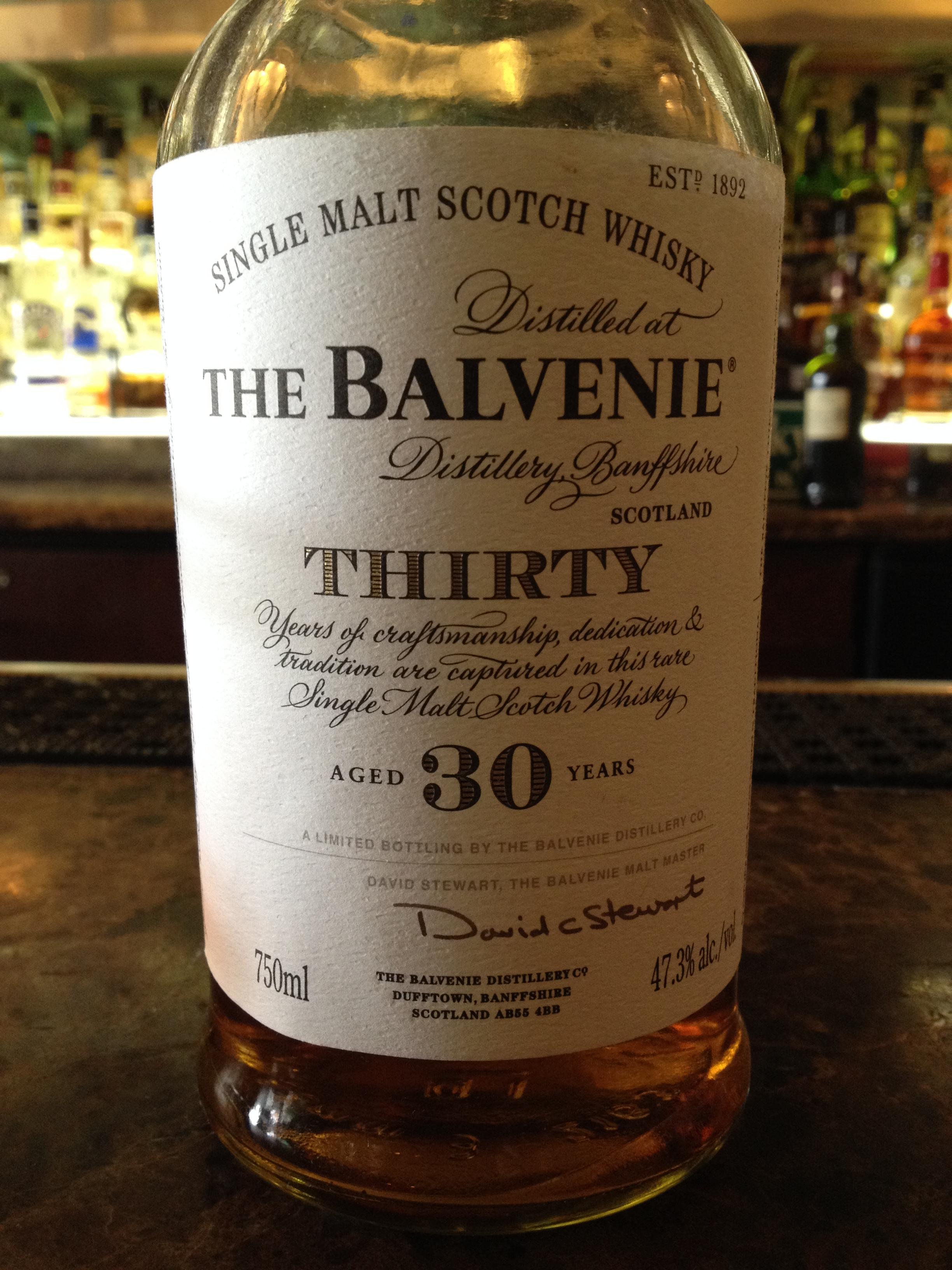 30 Year Old   47.3% ABV - Distillery   Balvenie