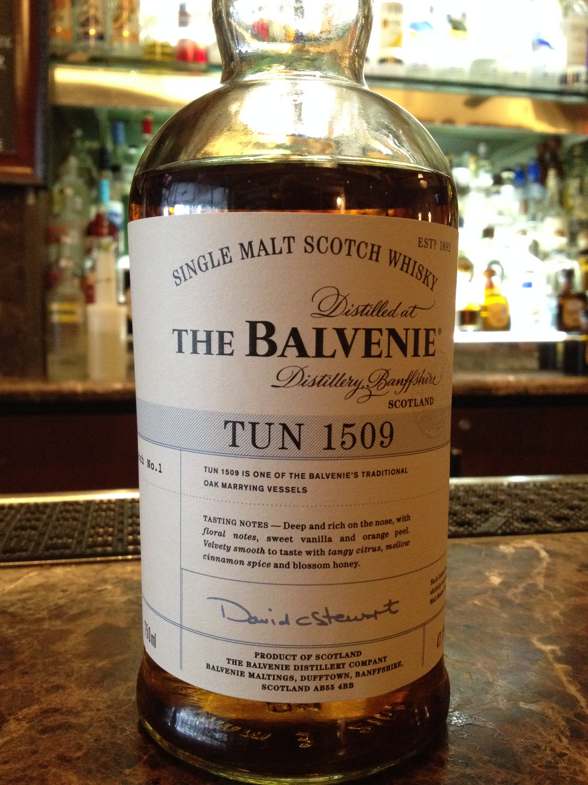 NAS   47.1% ABV - Distillery   Balvenie