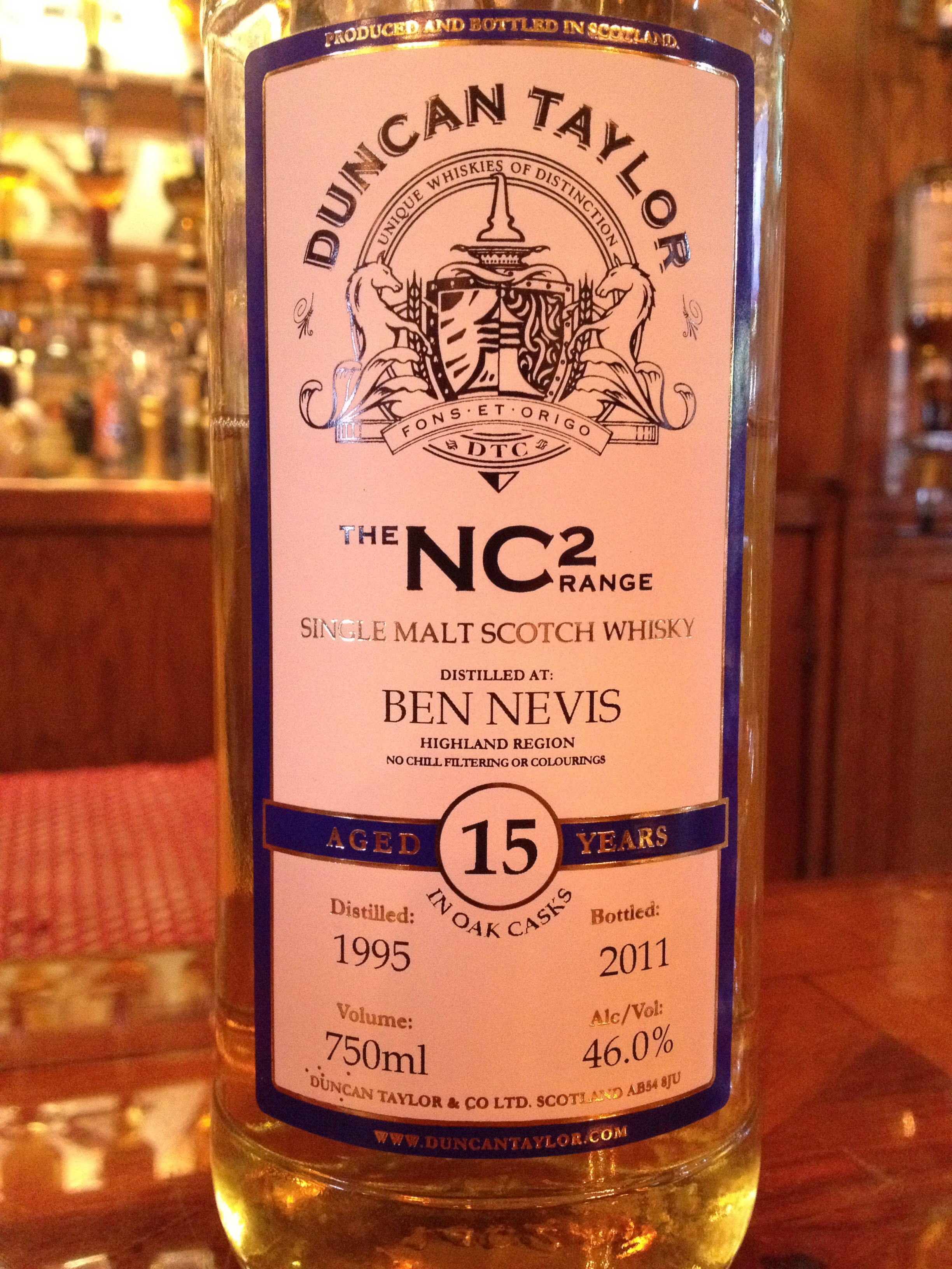 15 Year Old | 46% ABV - Distillery | Ben Nevis