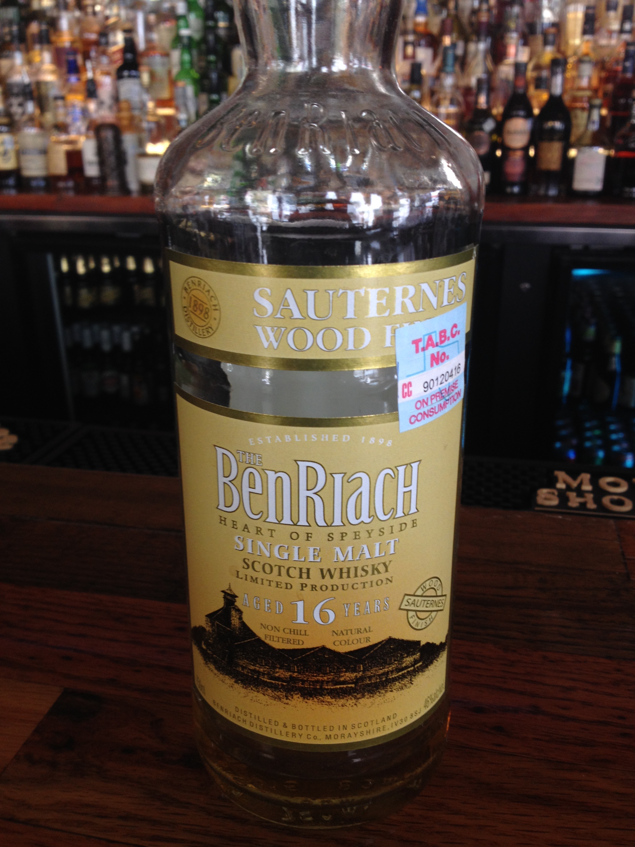 16 Year Old   46% ABV - Distillery   BenRiach