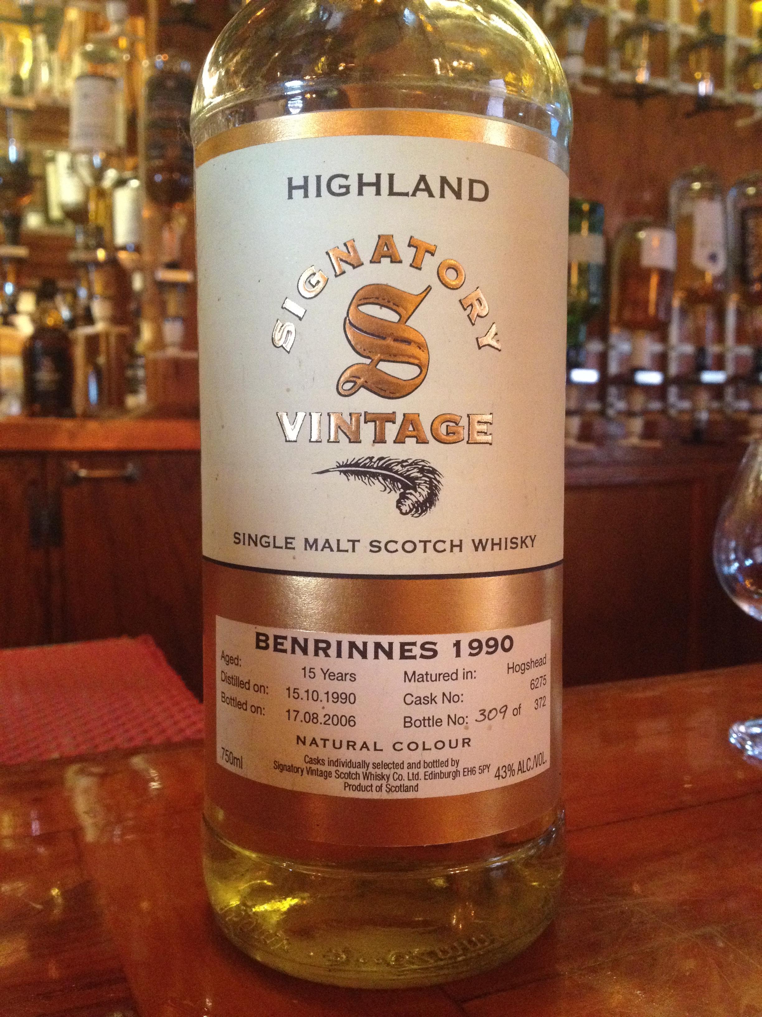 15 Year Old | 43% ABV - Distillery | Benrinnes