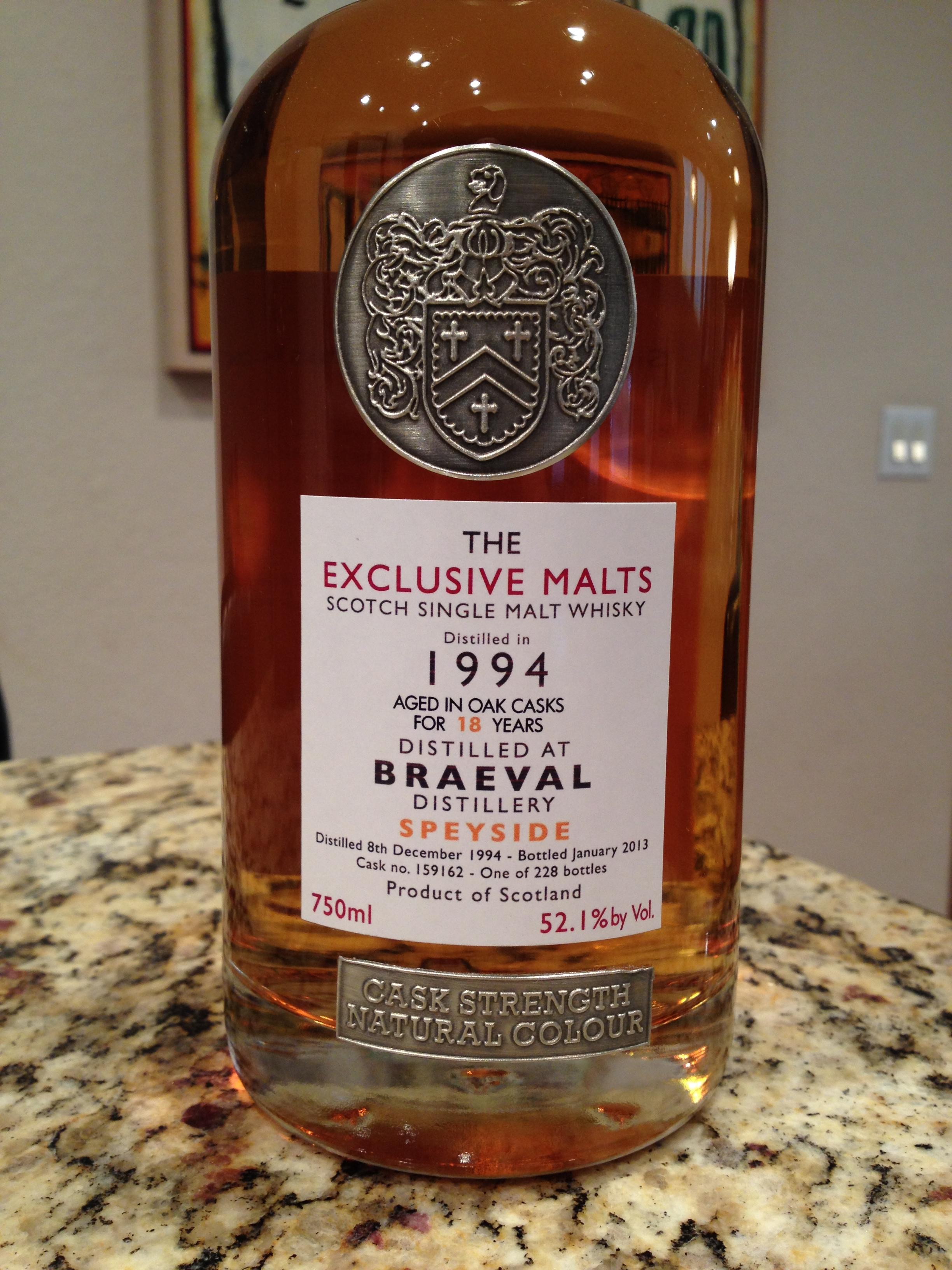 18 Year Old   52.1% ABV - Distillery   Braeval
