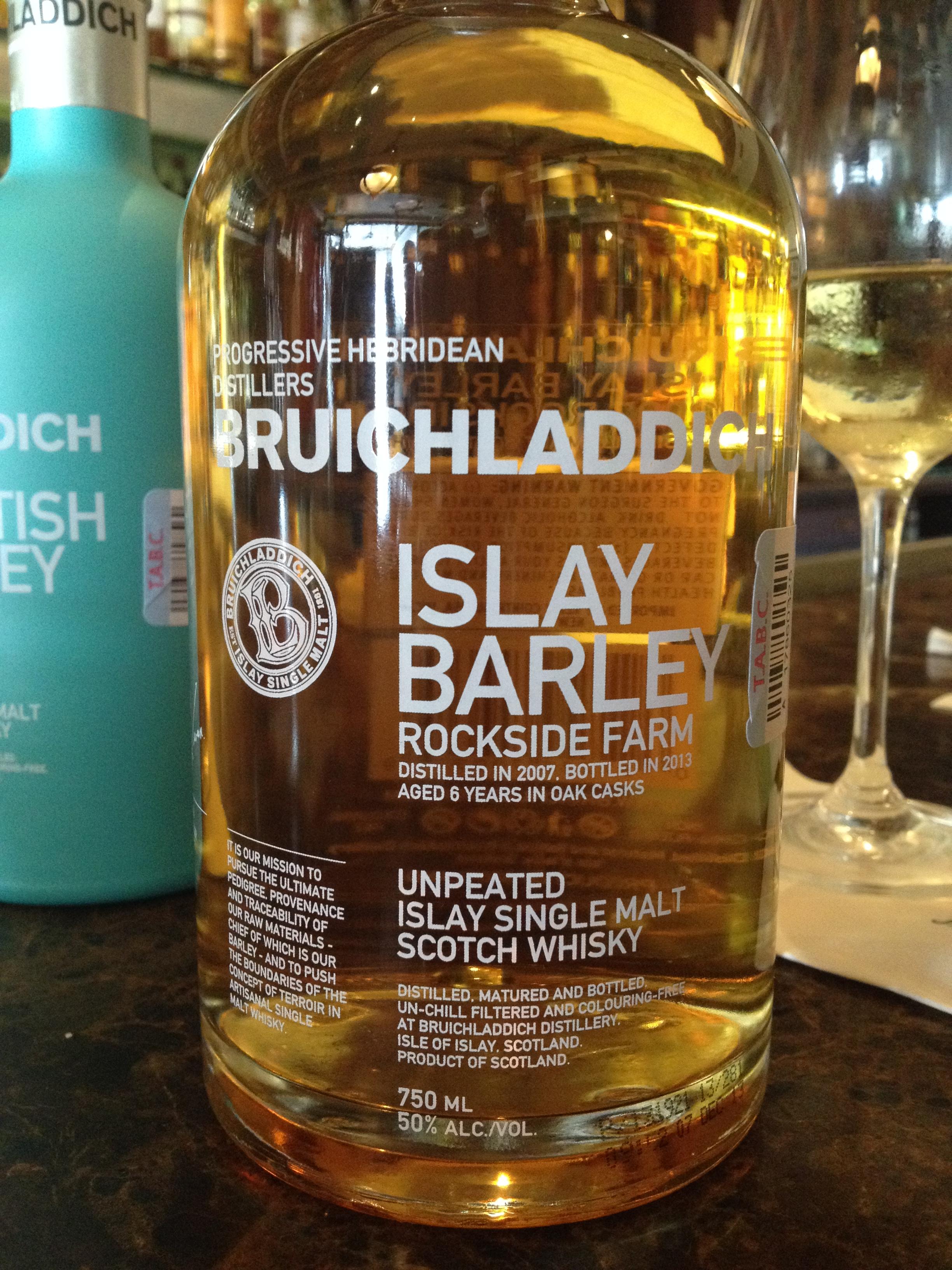 6 Year Old   50% ABV - Distillery   Bruichladdich