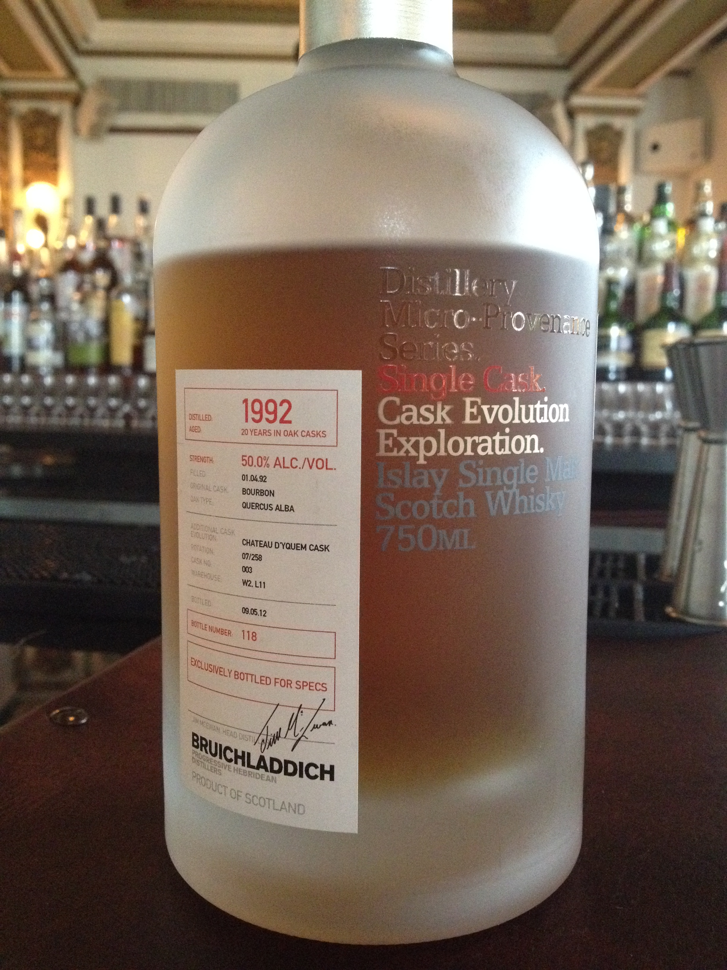 20 Year Old | 50% ABV - Distillery | Bruichladdich