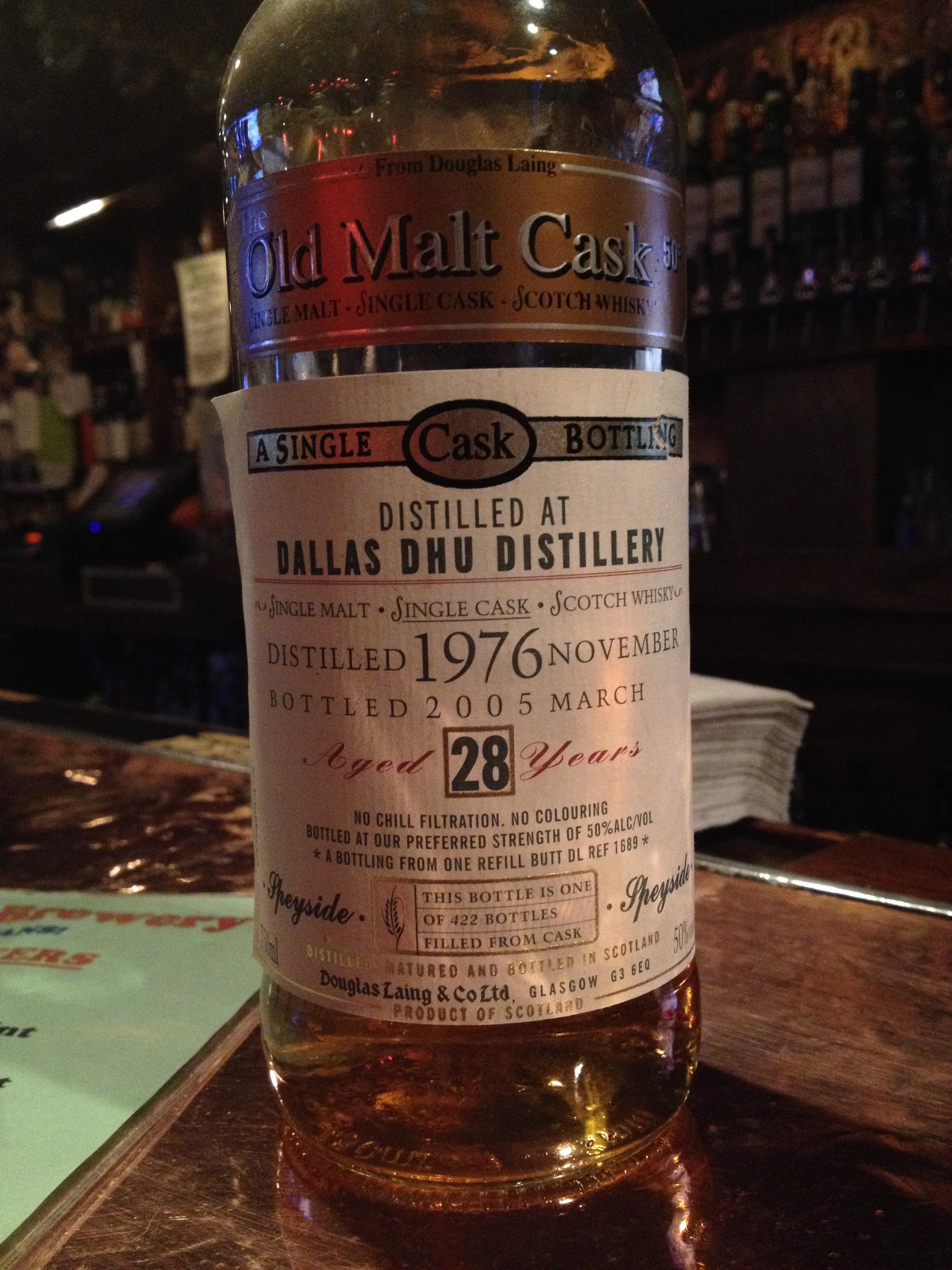 28 Year Old   50% ABV - Distillery   Dallas Dhu