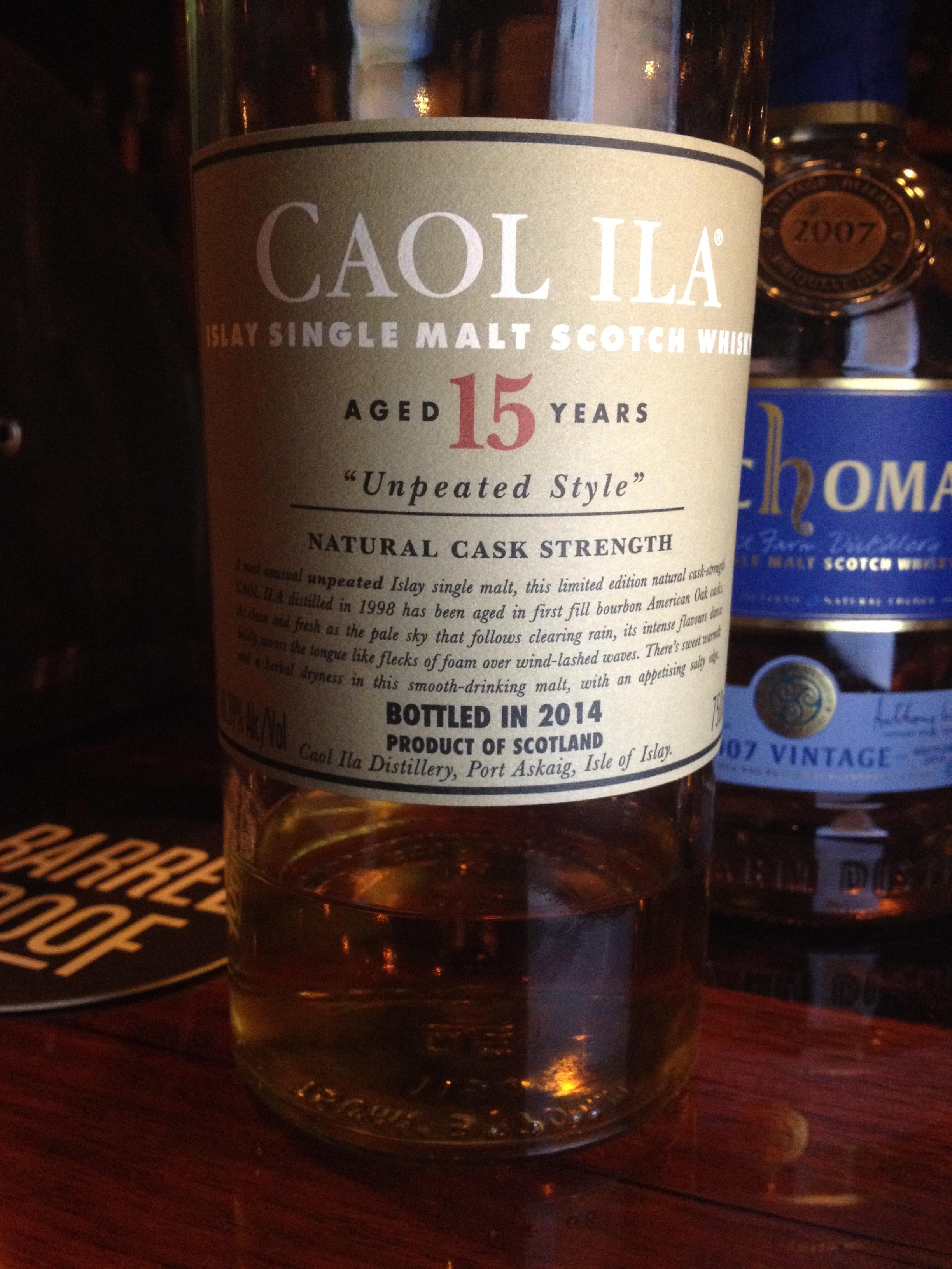15 Year Old | 60.39% ABV - Distillery | Caol Ila