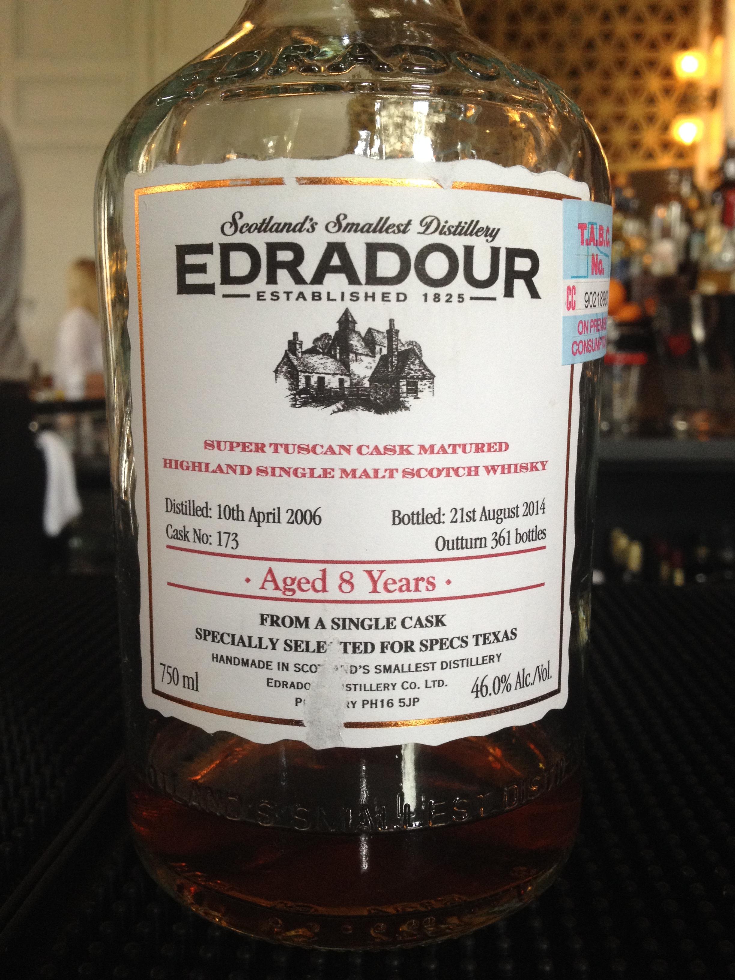8 Year Old   46% ABV - Distillery   Edradour