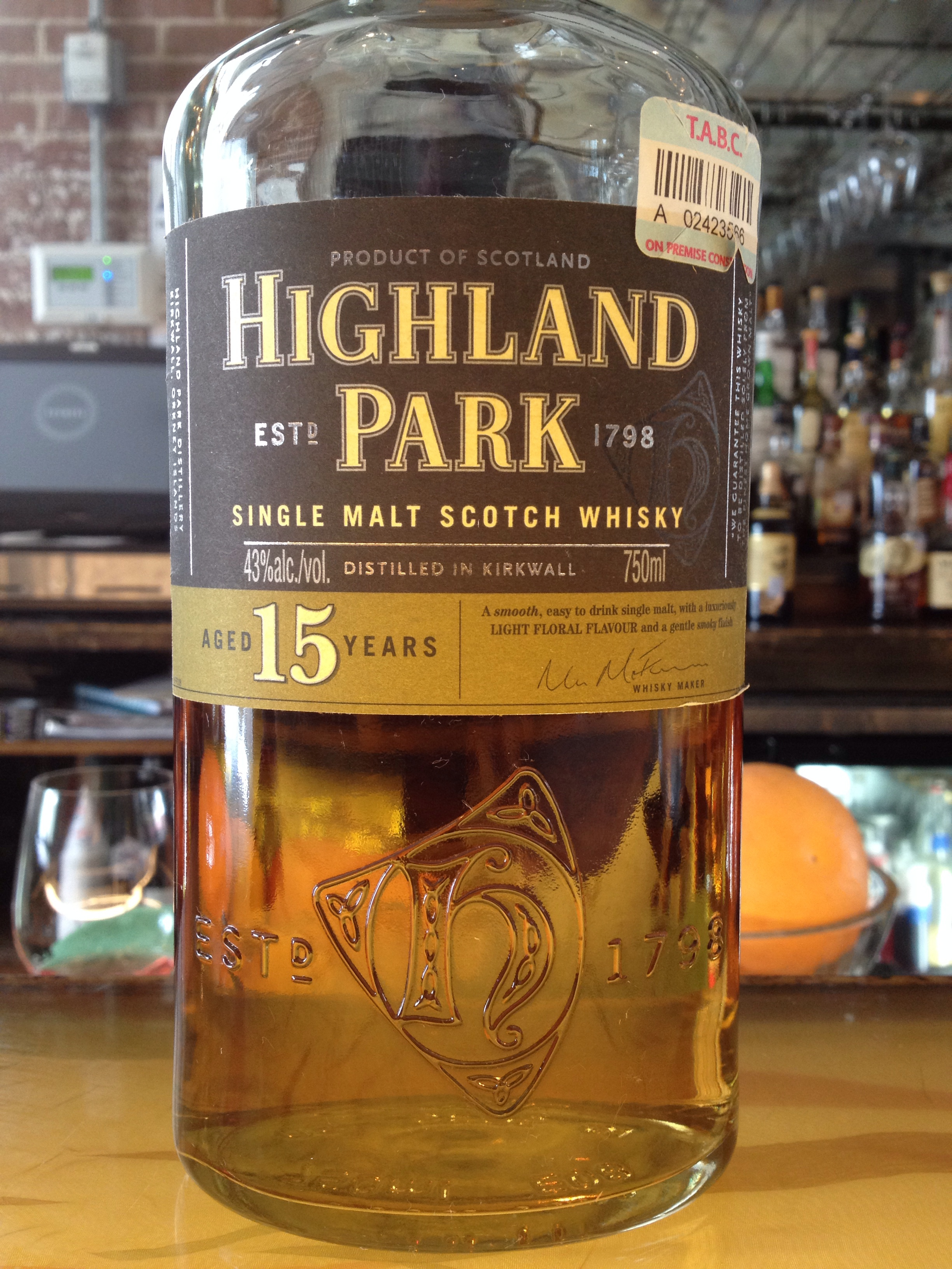 15 Year Old | 43% ABV - Distillery | Highland Park