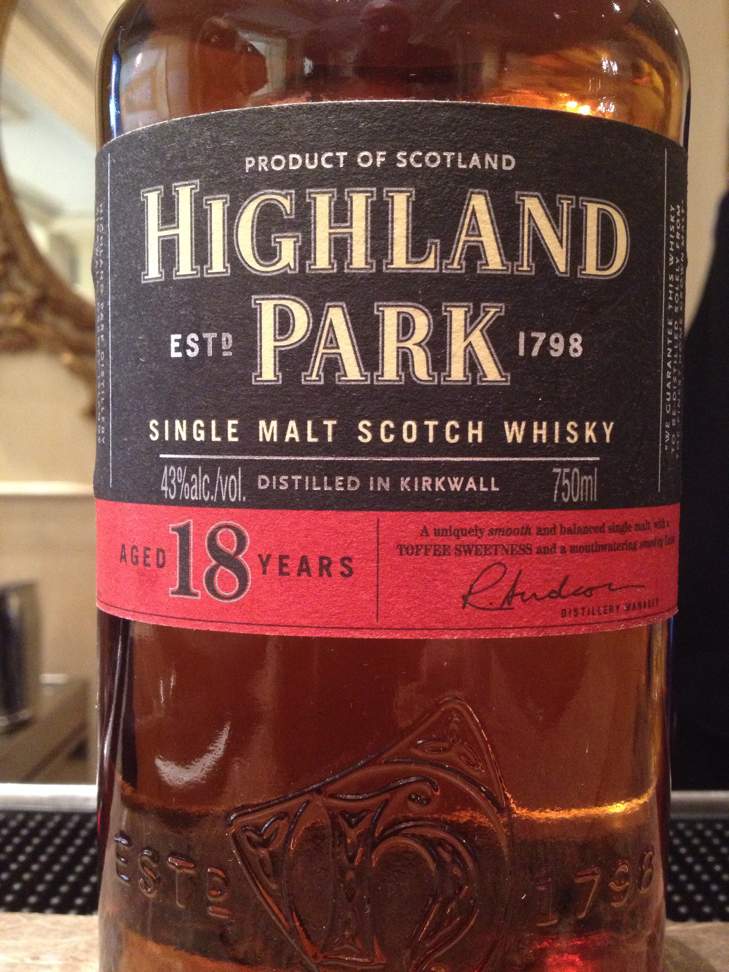 18 Year Old | 43% ABV - Distillery | Highland Park