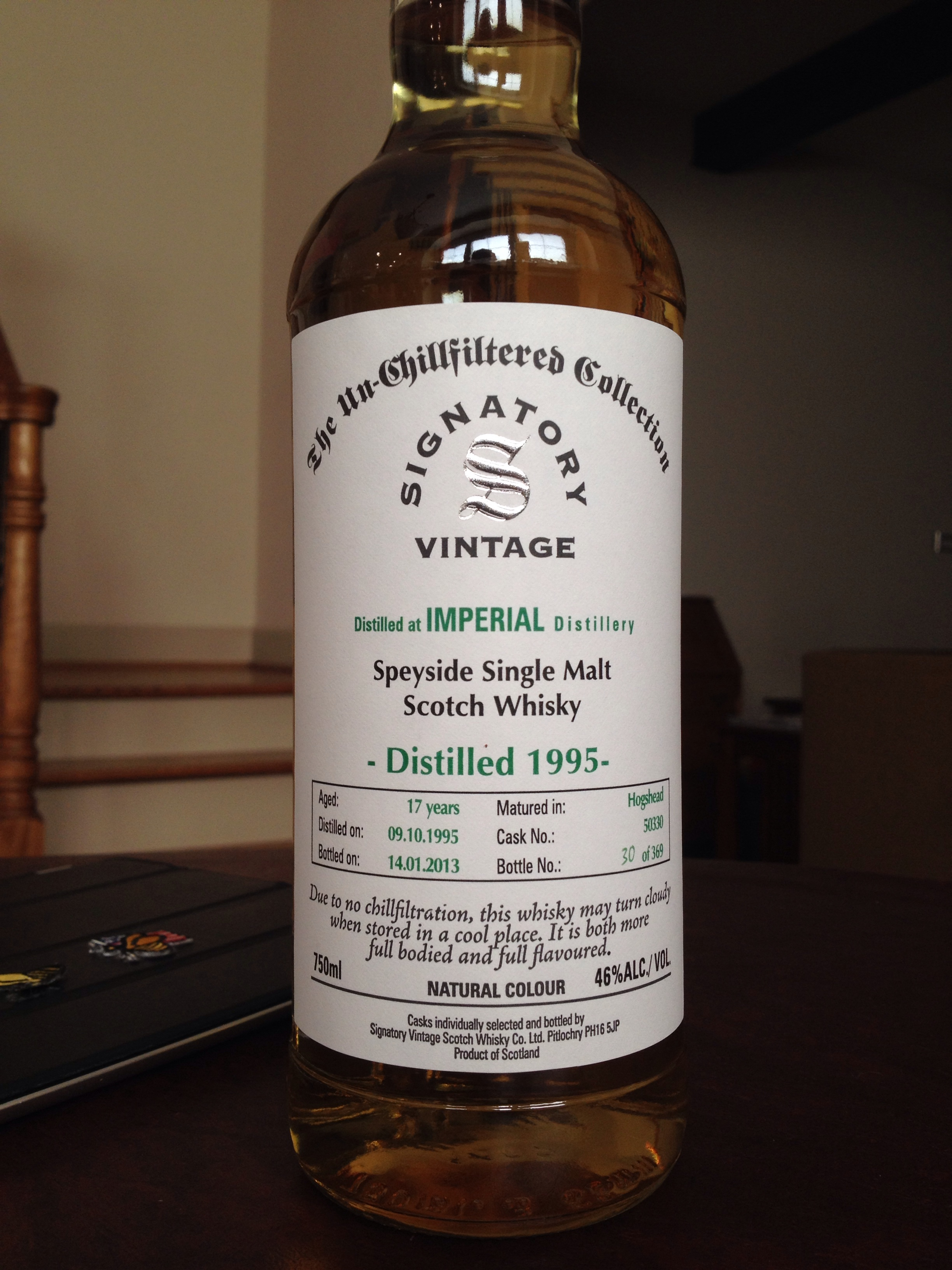 17 Year Old | 46% ABV - Distillery | Imperial