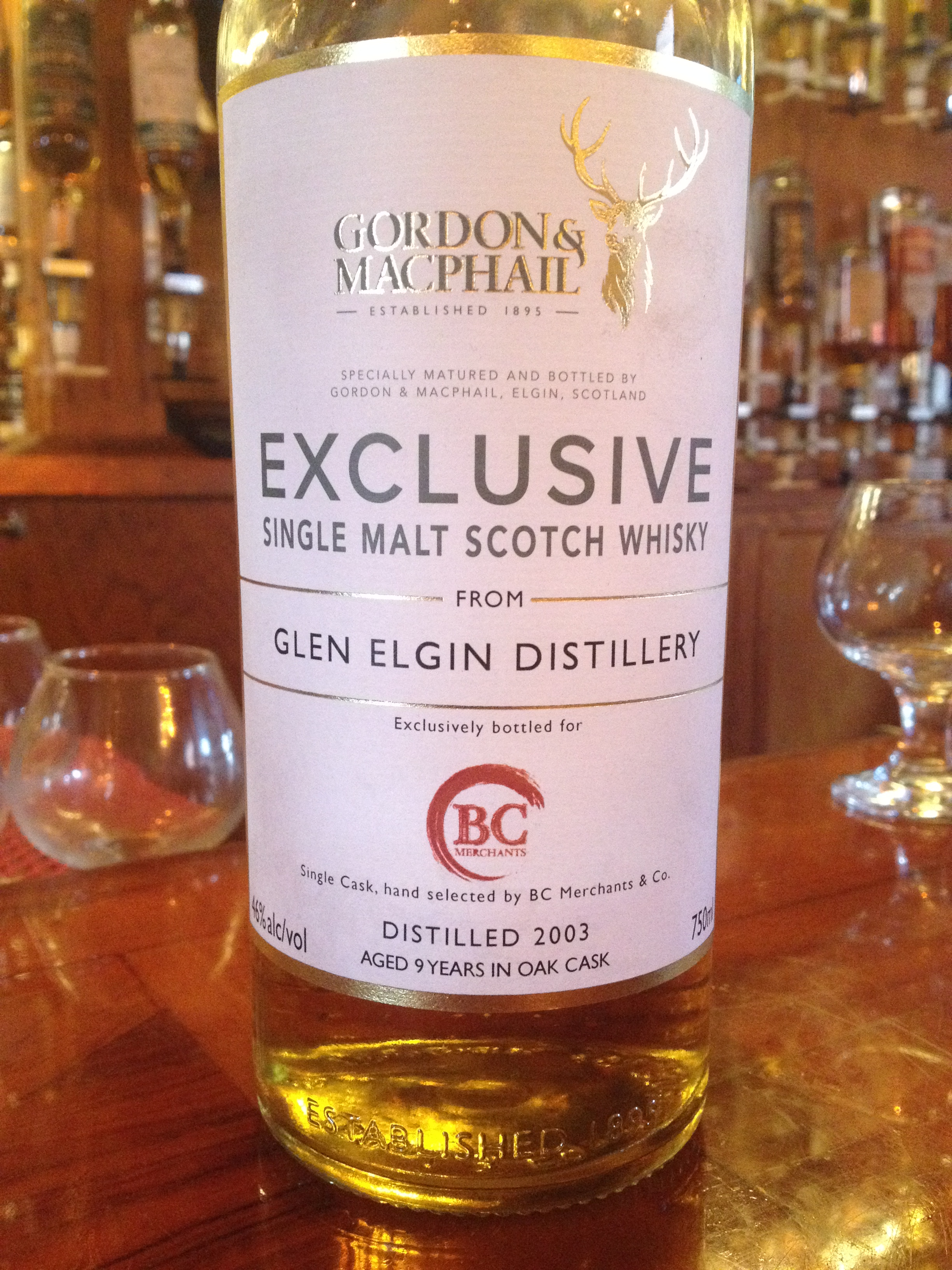 9 Year Old   46% ABV - Distillery   Glen Elgin