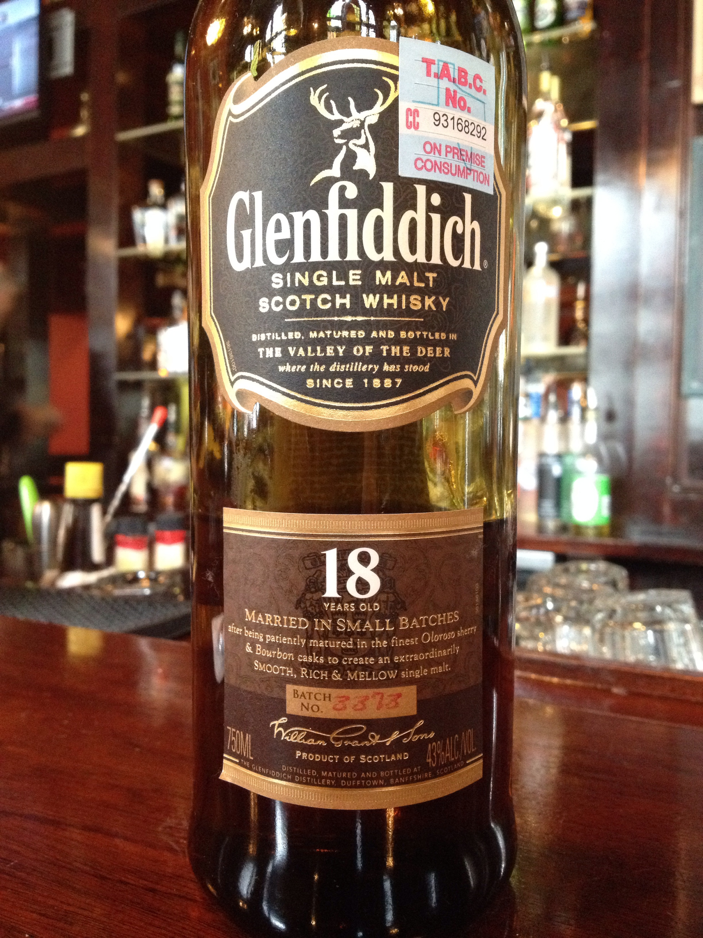 18 Year Old | 43% ABV - Distillery | Glenfiddich