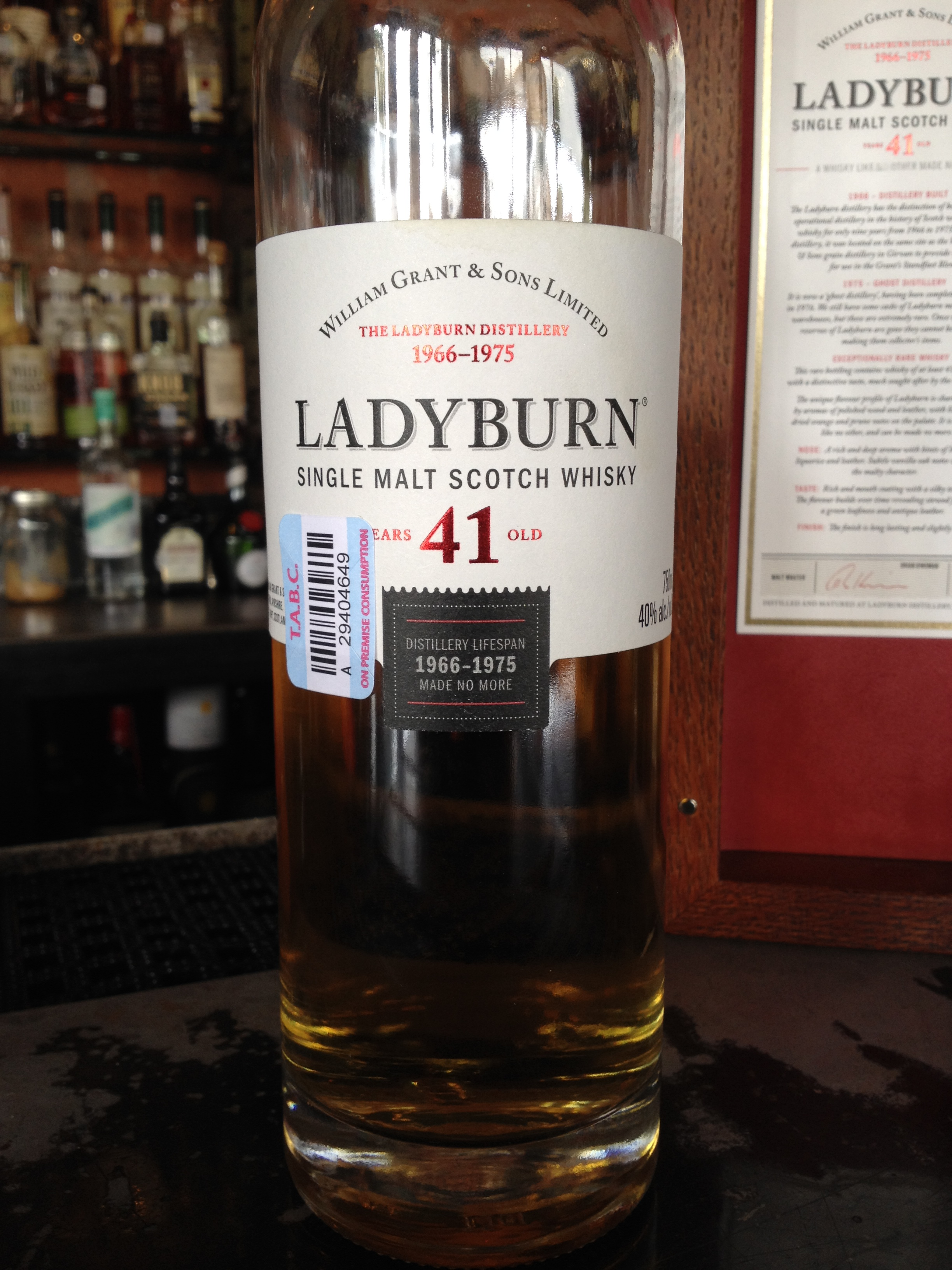 41 Year Old | 40% ABV - Distillery | Ladyburn