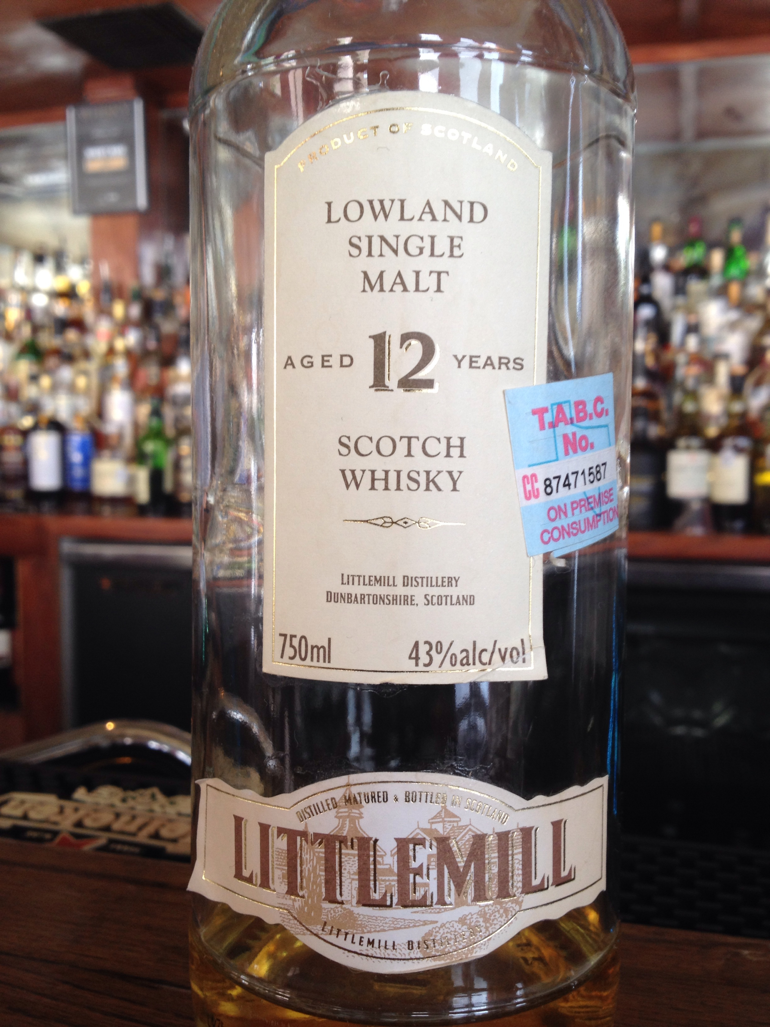12 Year Old | 43% ABV - Distillery | Littlemill