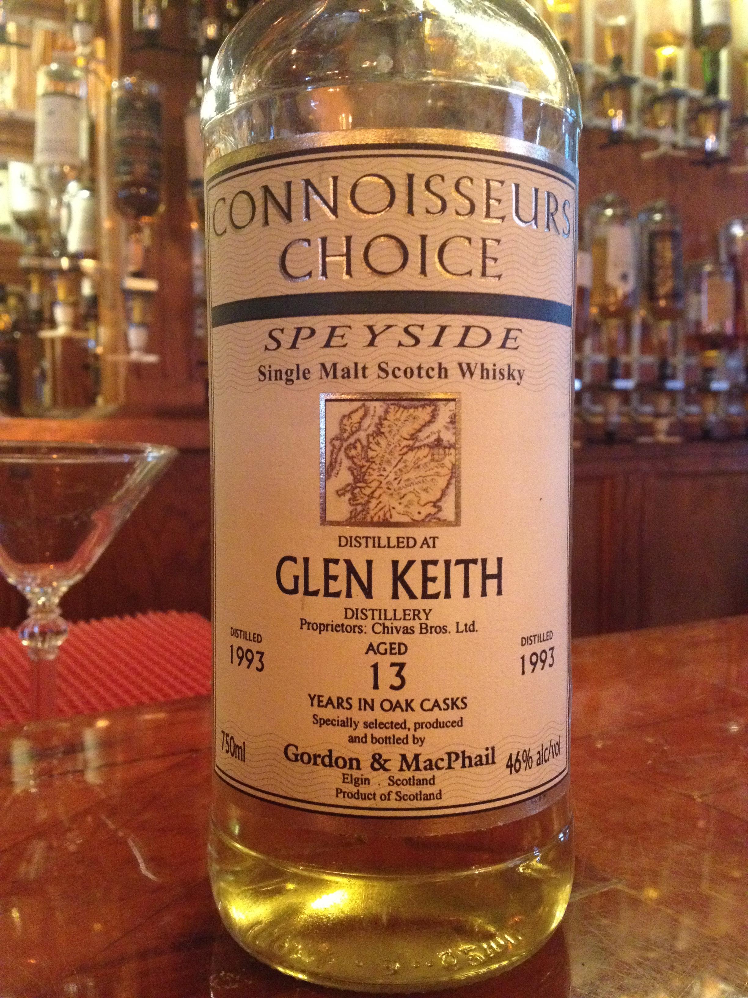 13 Year Old   46% ABV - Distillery   Glen Keith
