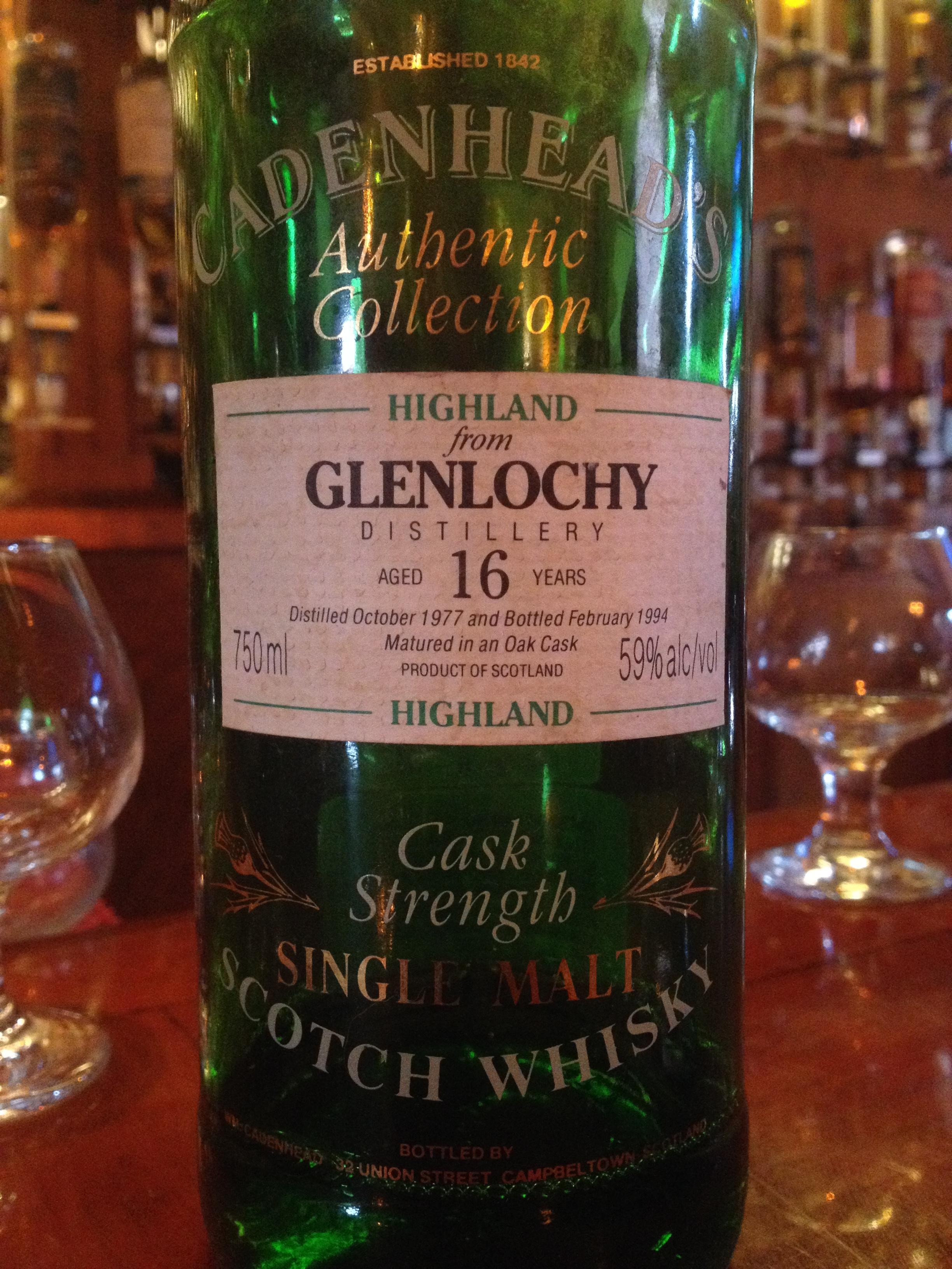 16 Year Old   59% ABV - Distillery   Glenlochy