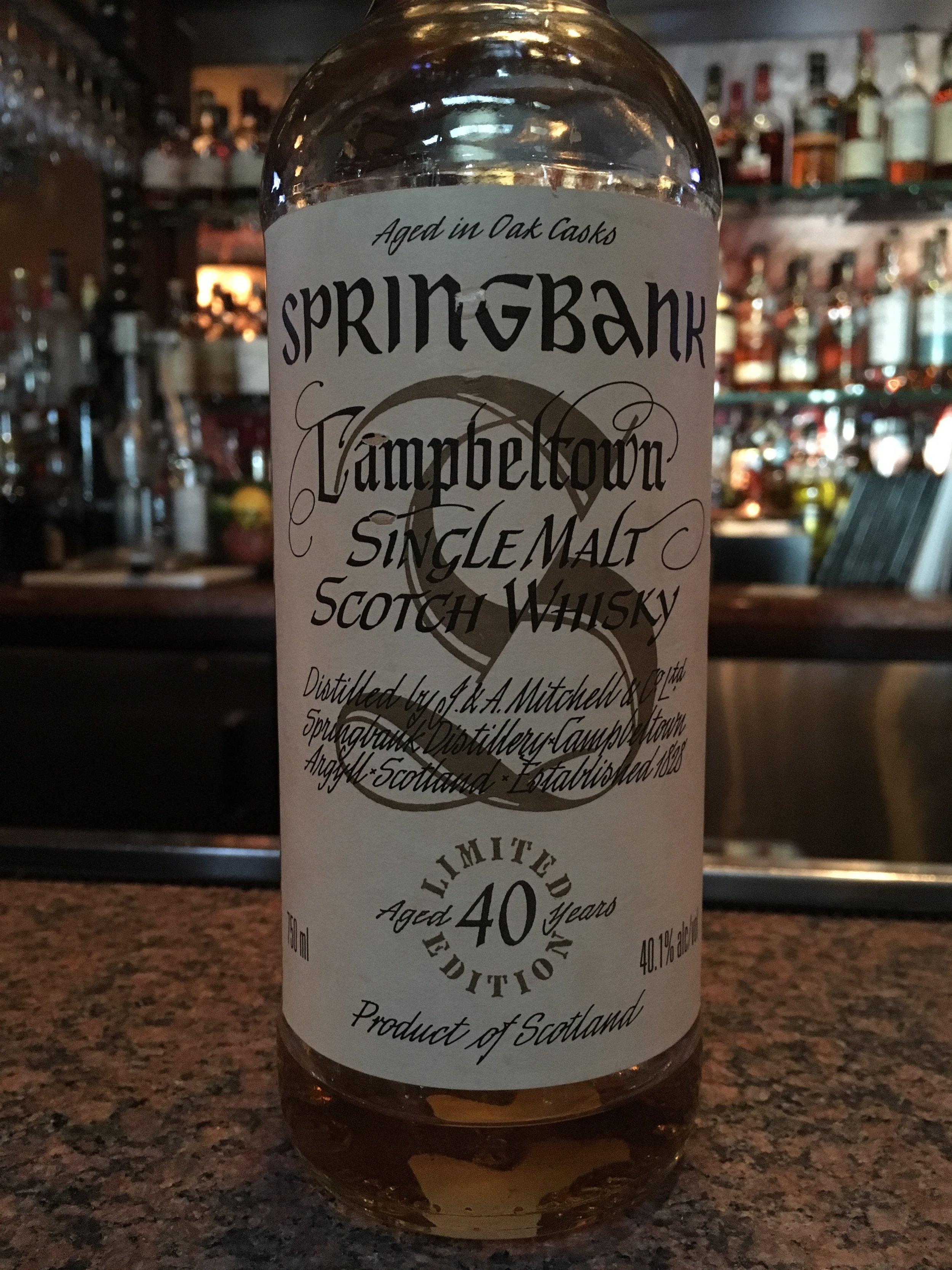 40 Year Old | 40.1% ABV - Distillery | Springbank