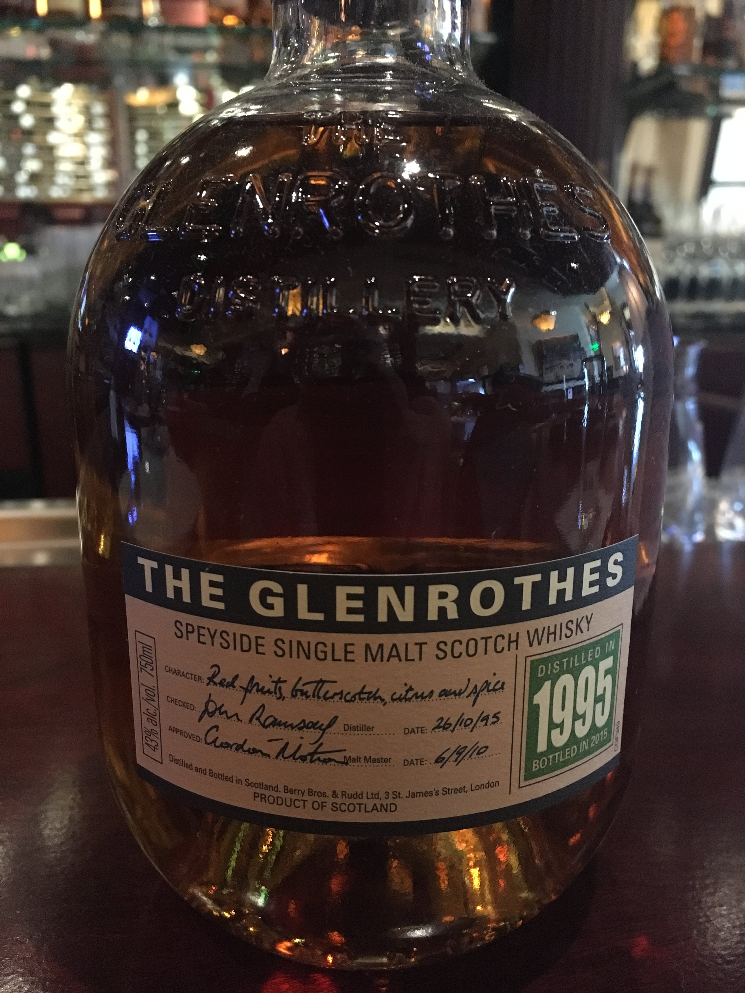 20 Year Old | 43% ABV - Distillery | Glenrothes