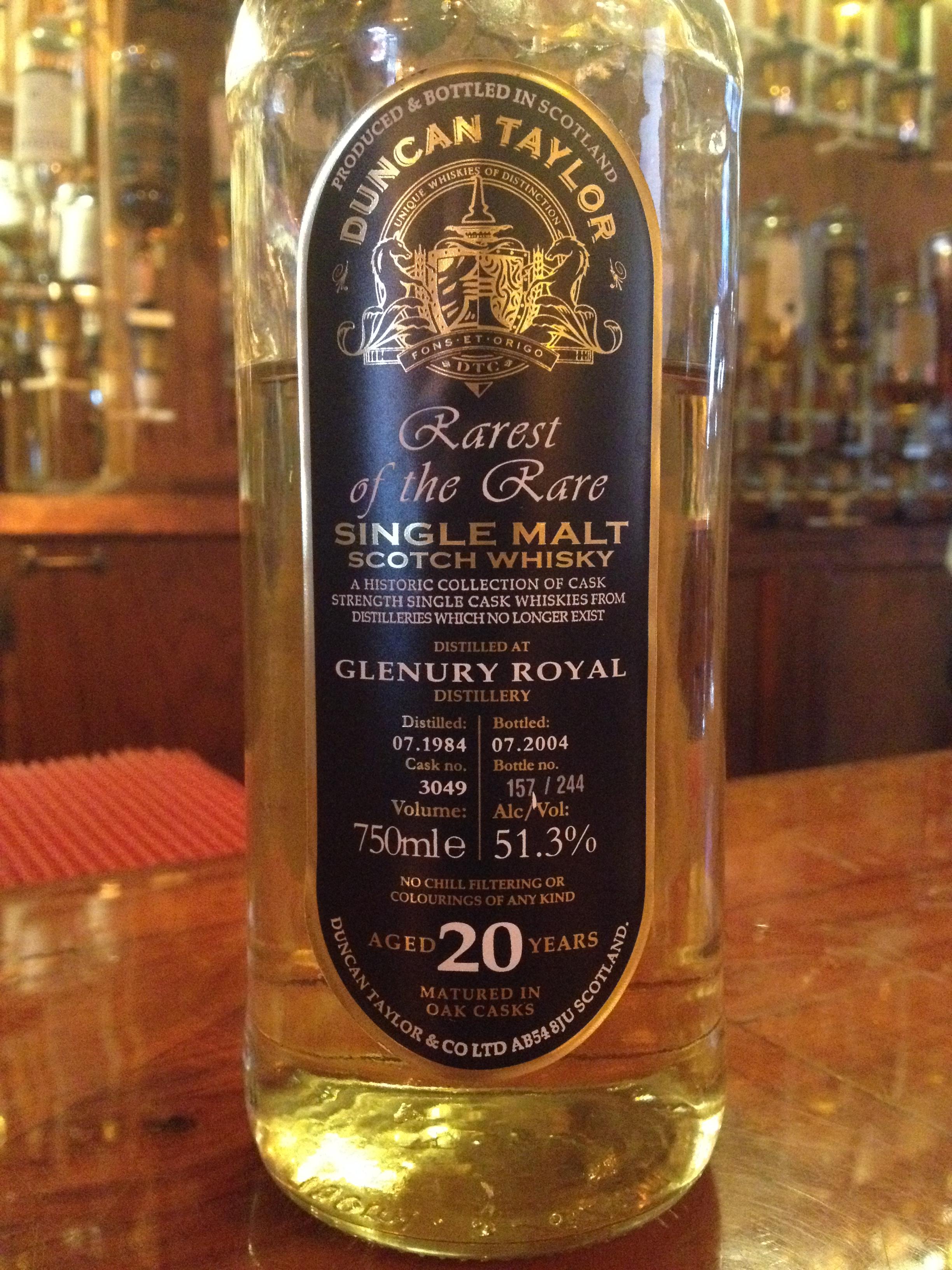 20 Year Old   51.3% ABV - Distillery   Glenury Royal
