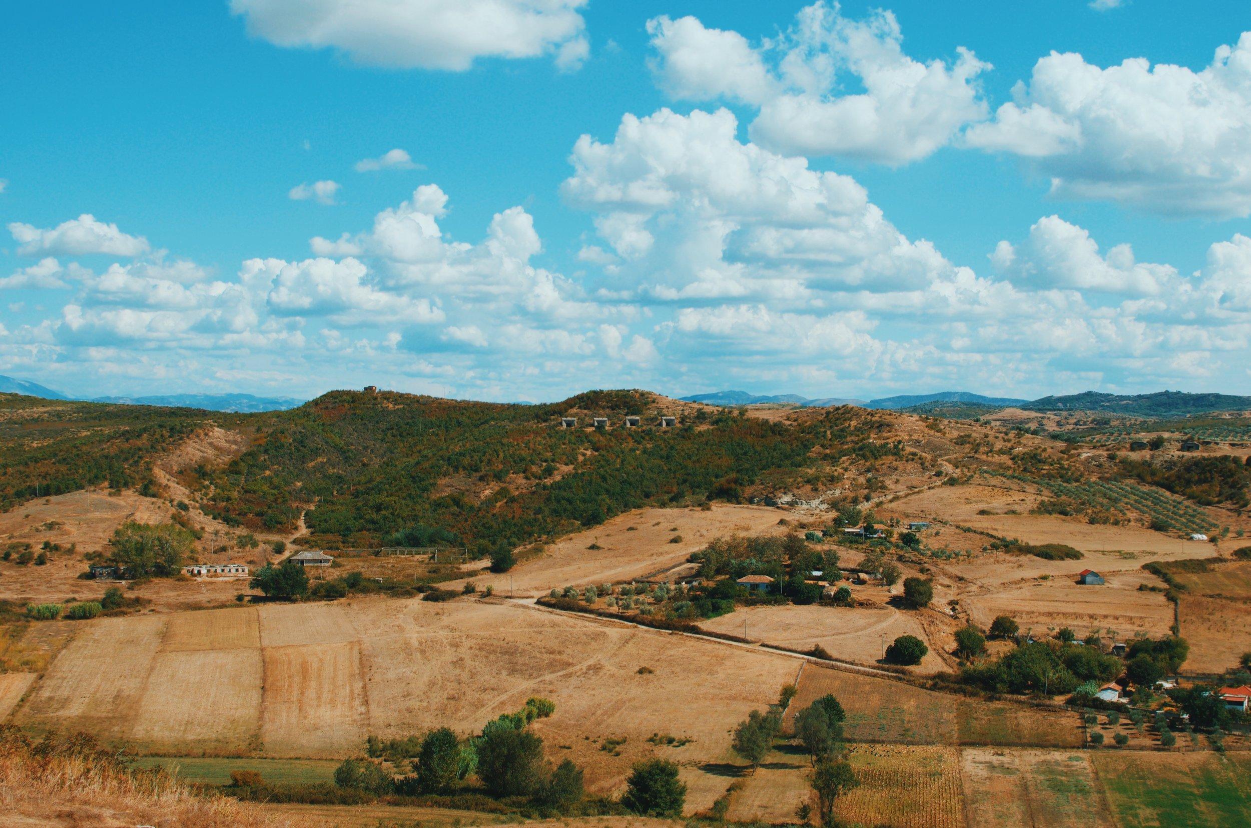 Landscape from Apollinia, Albania