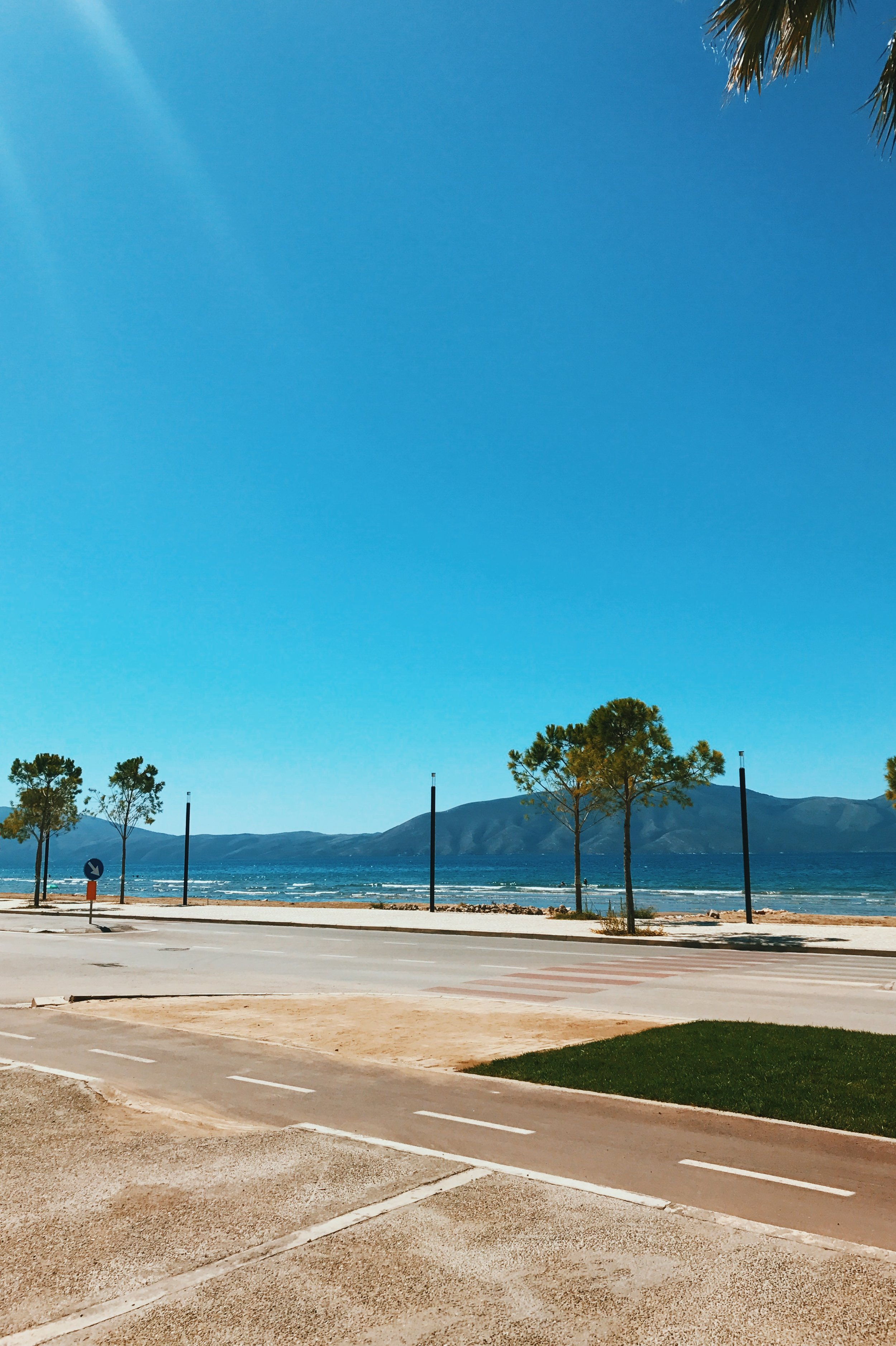The sea in Vlorë, Albania