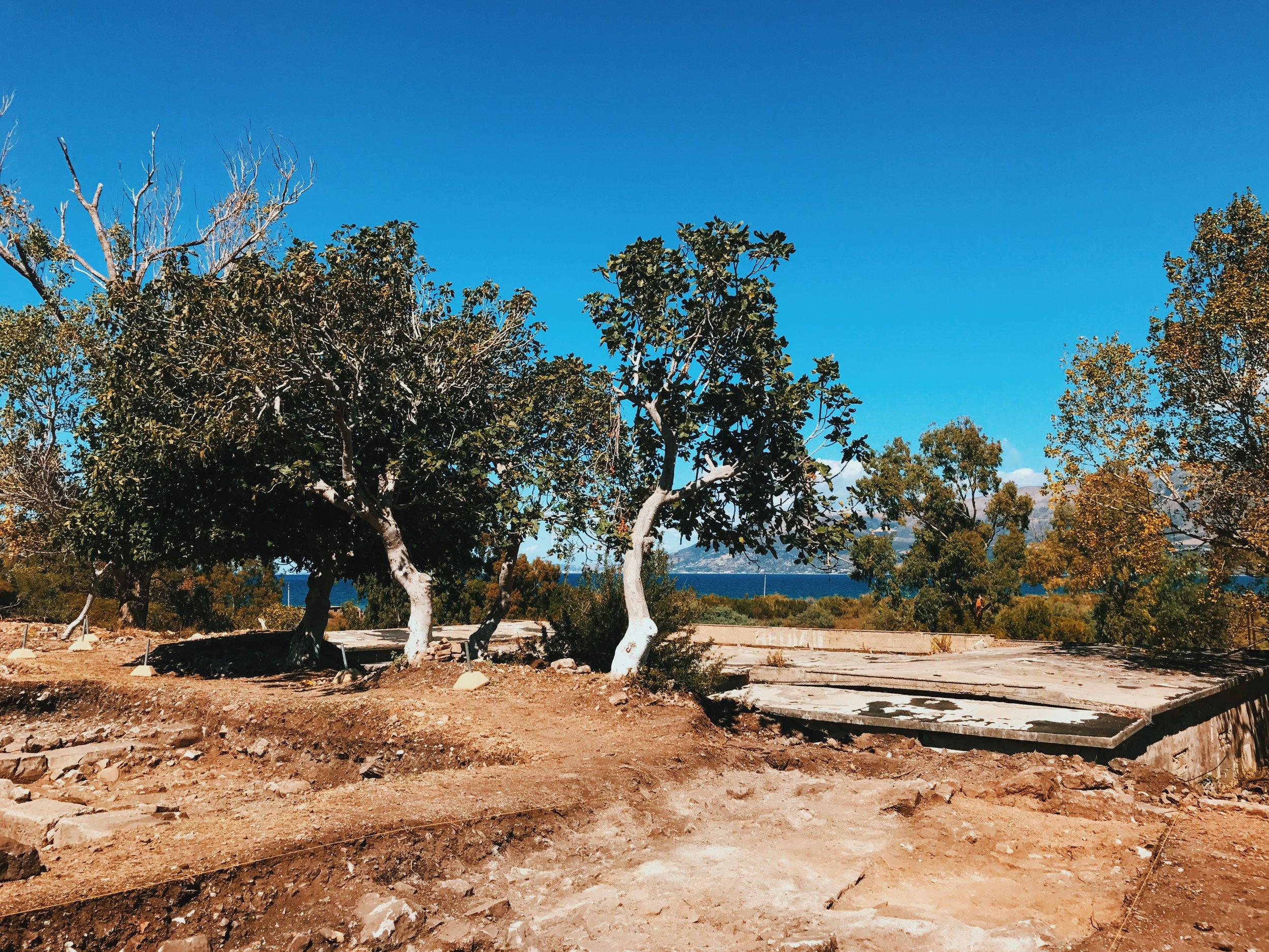 Archeological park in Orikum, Albania