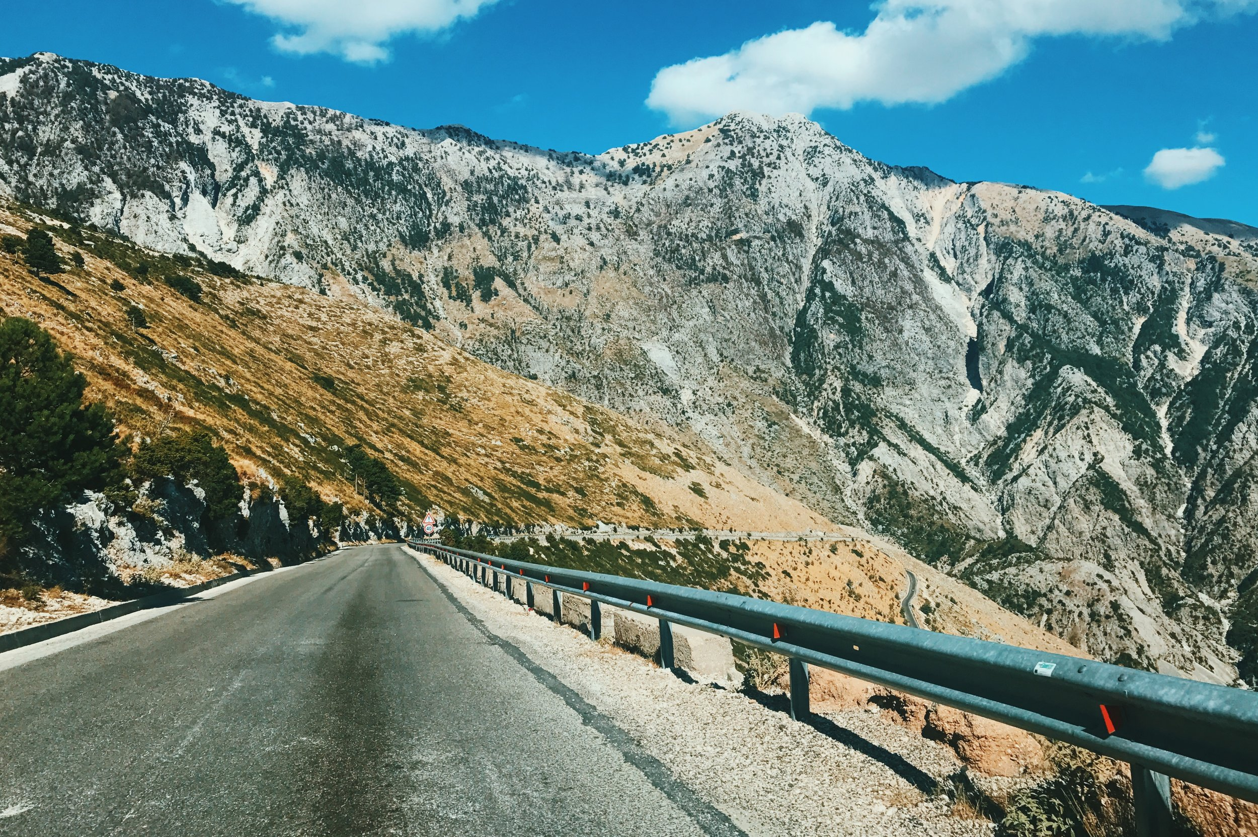 Driving the Llogara Pass in Albania