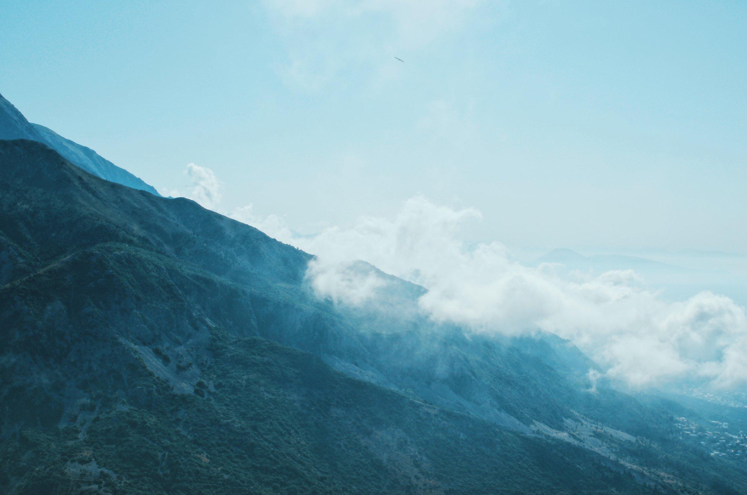 Mountains at the Llogara Pass, Albania