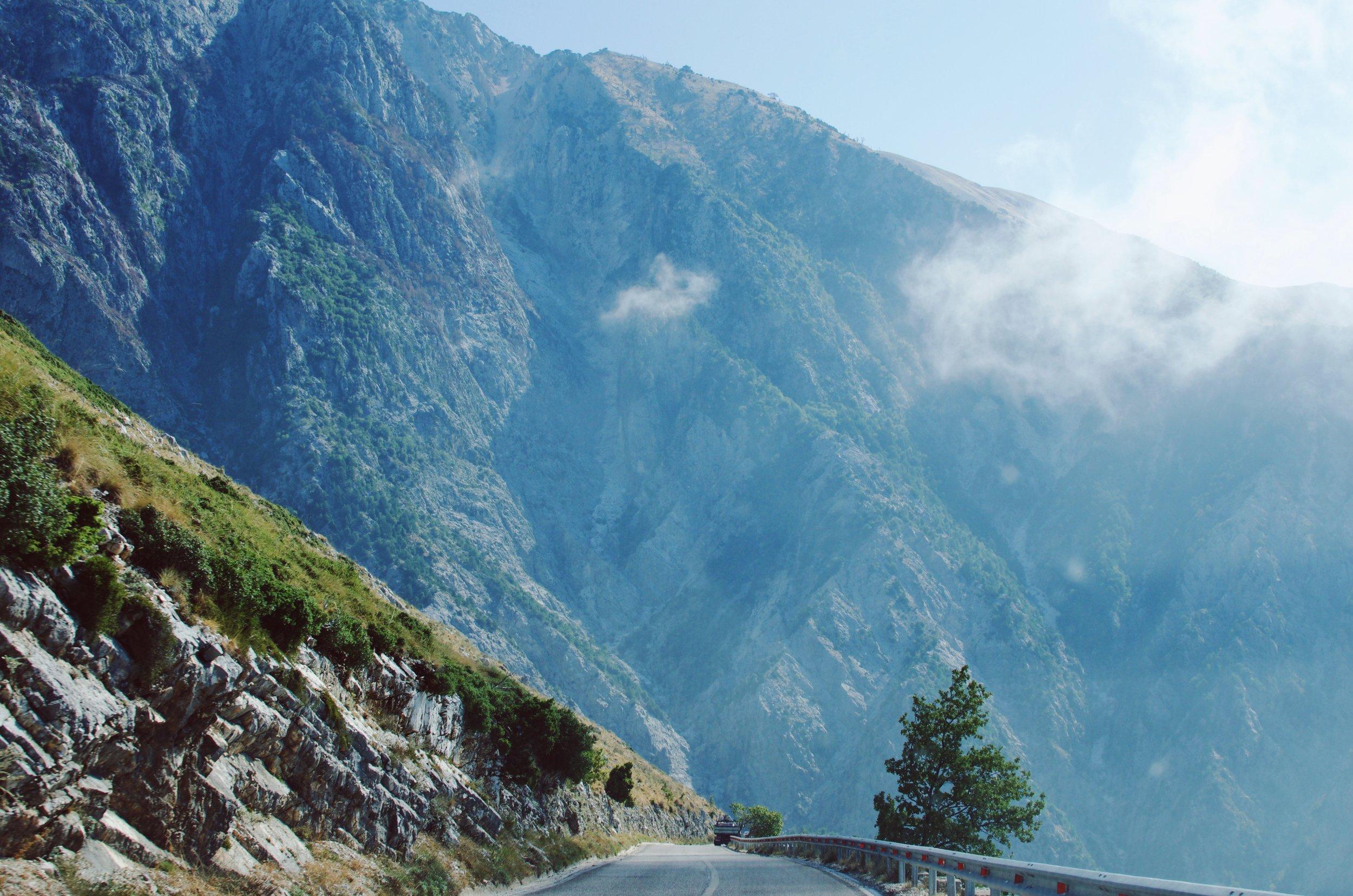 The Llogara Pass in Albania