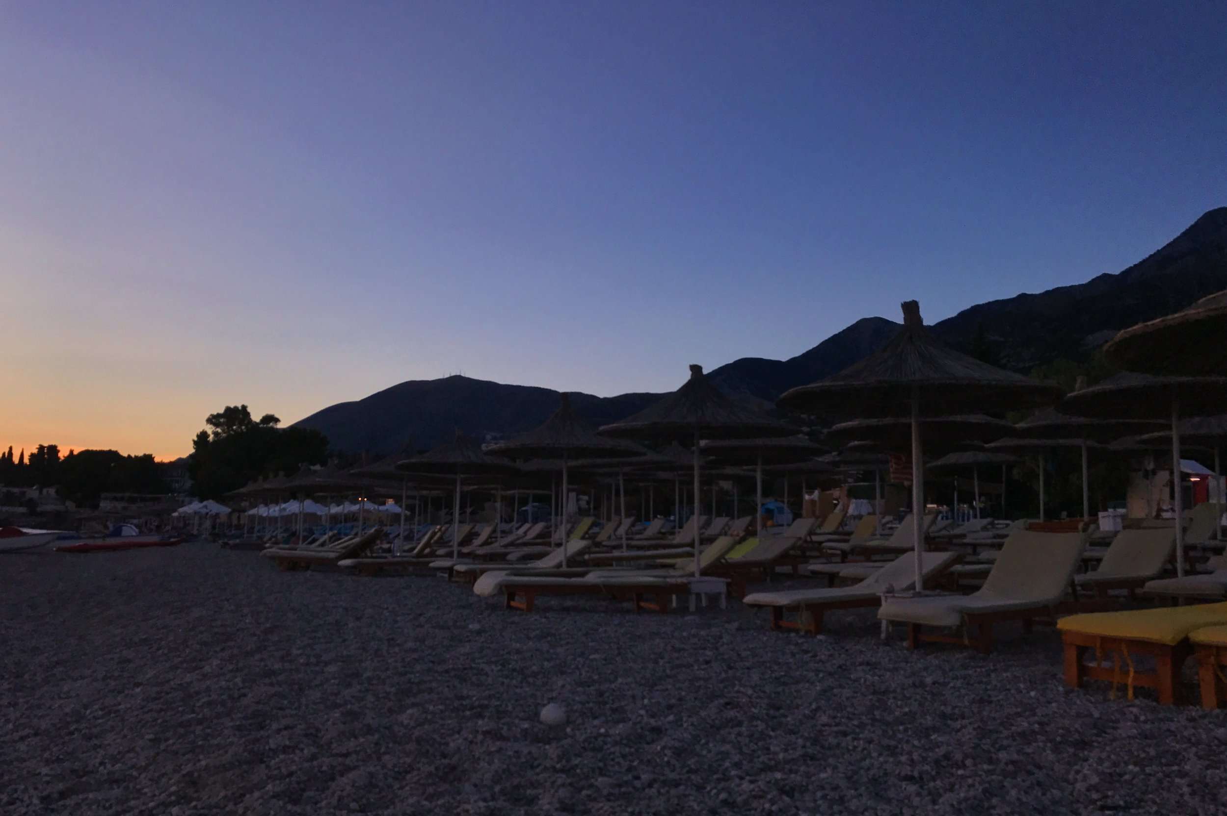 Dhermi beach at night