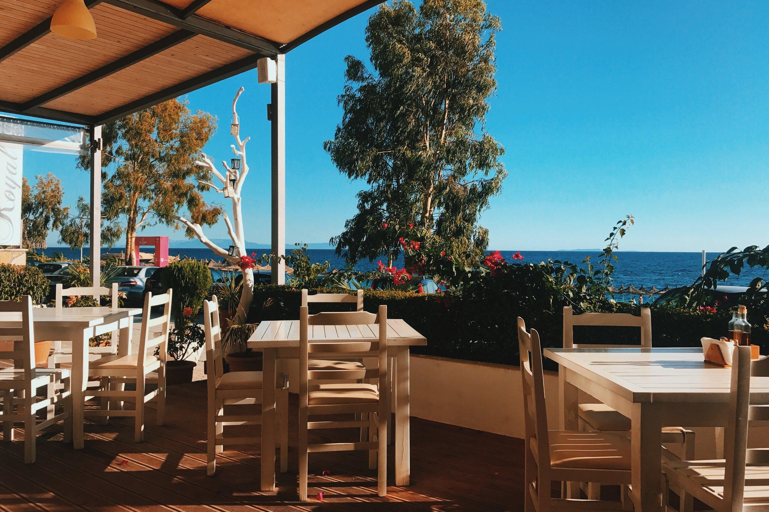 The Royal Blue Restaurant in Dhermi, Albania
