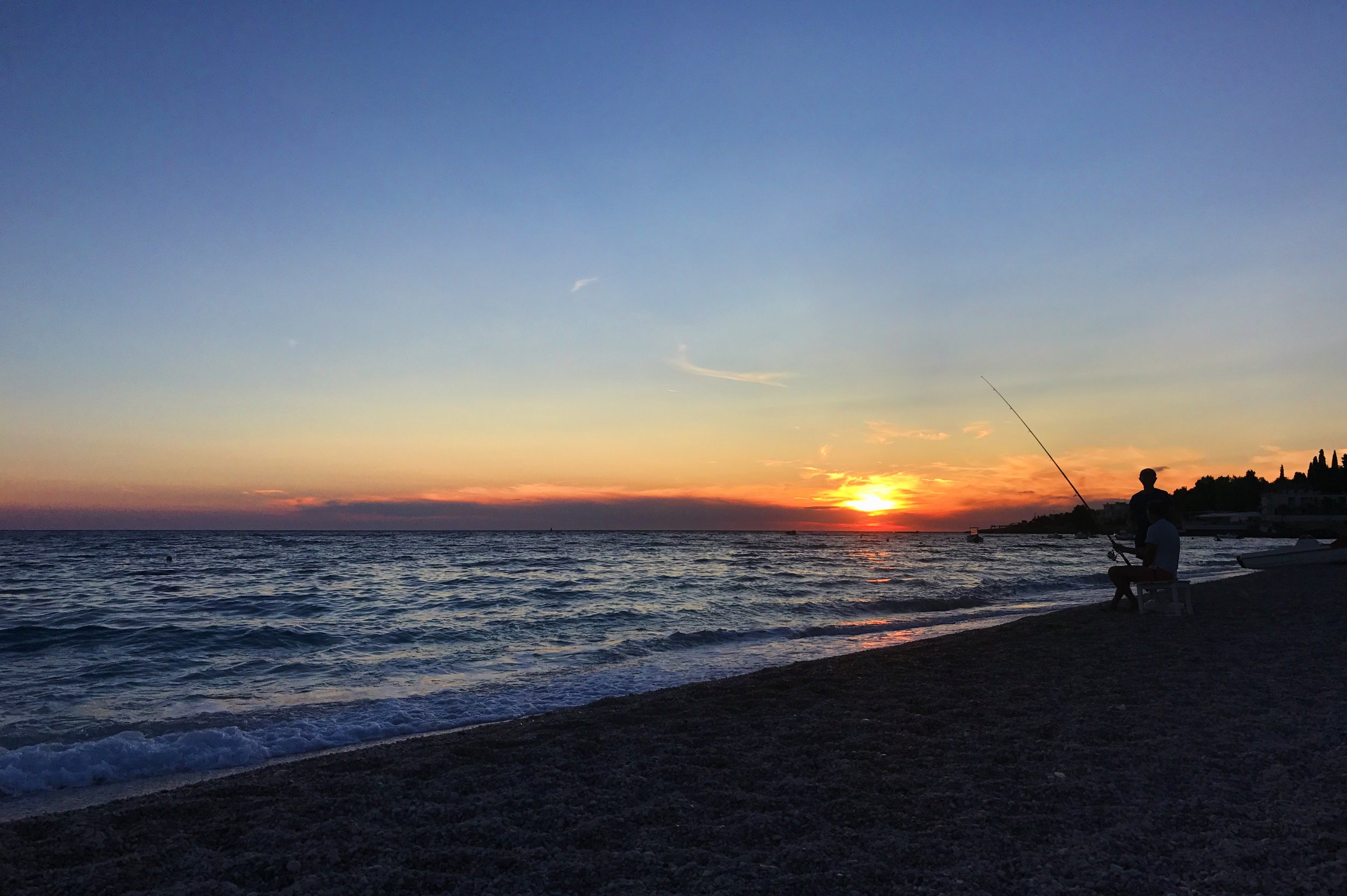 Fisherman at Dhermi beach, Albania