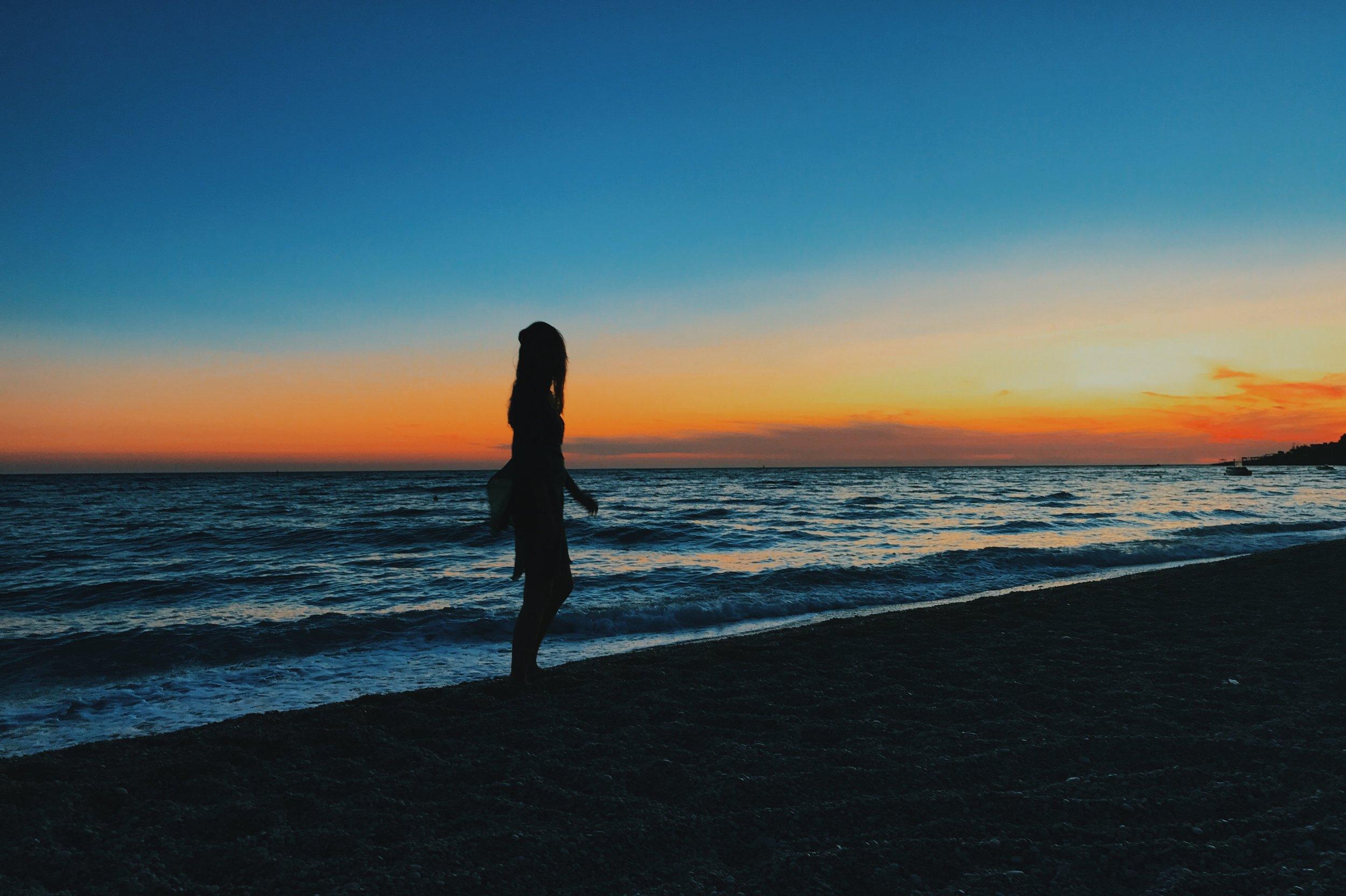 Sunset at Dhermi beach, Albania
