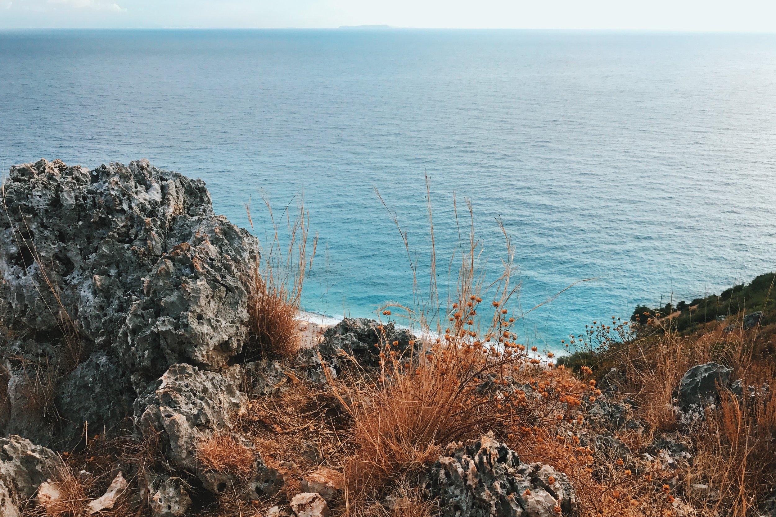 The ionic sea at Gjipe Beach, Albania