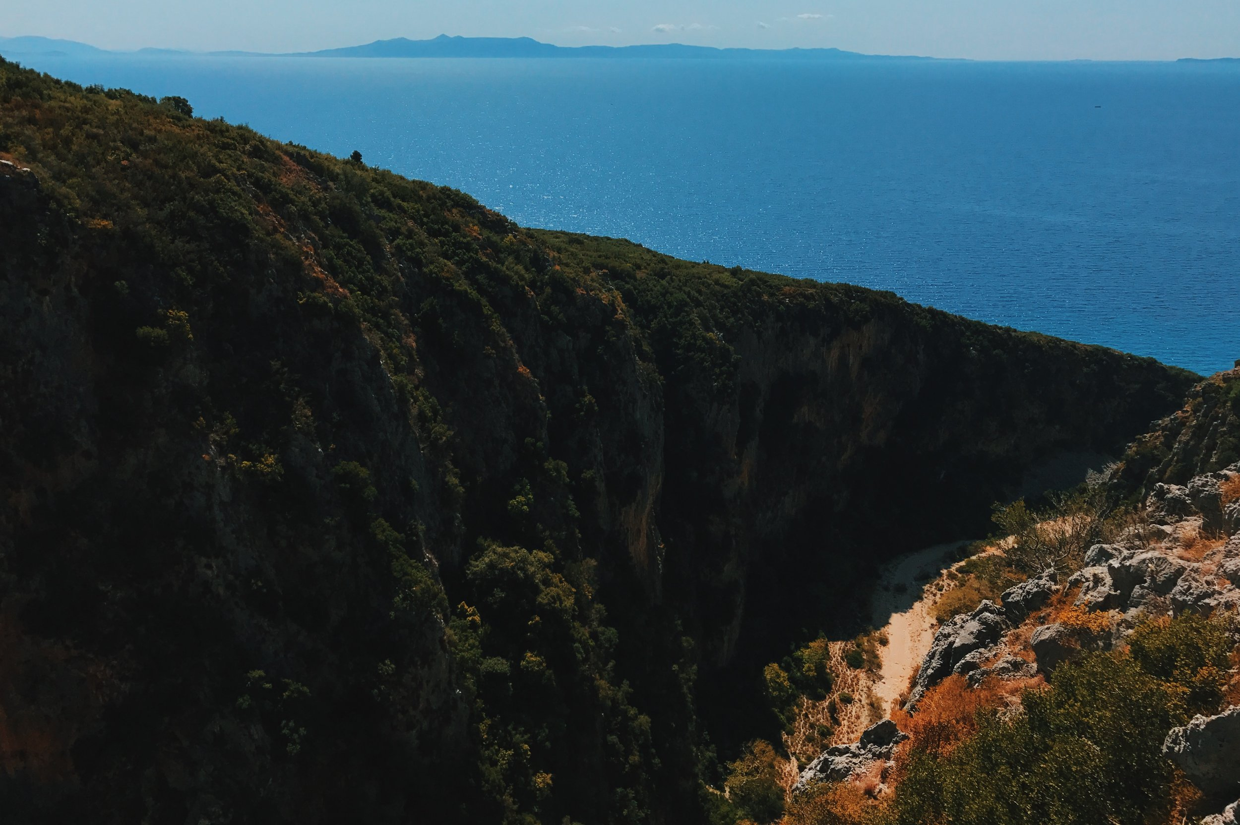 The canyon at Gjipe beach, Albania
