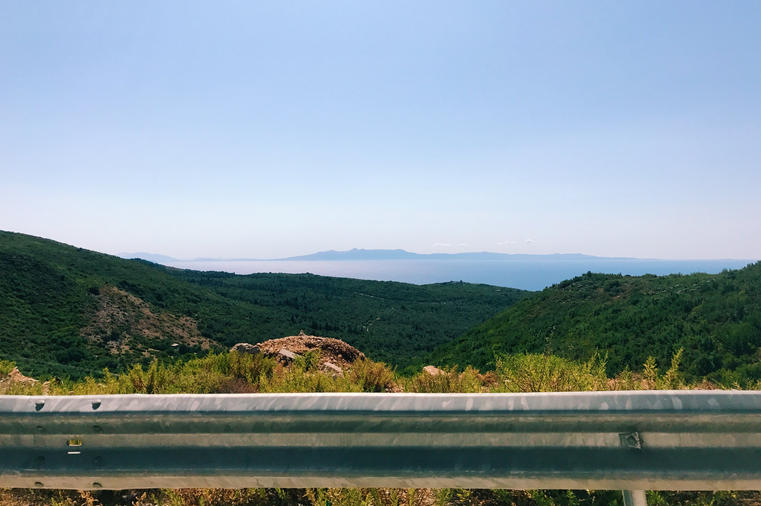 The road along the Albanian Riviera