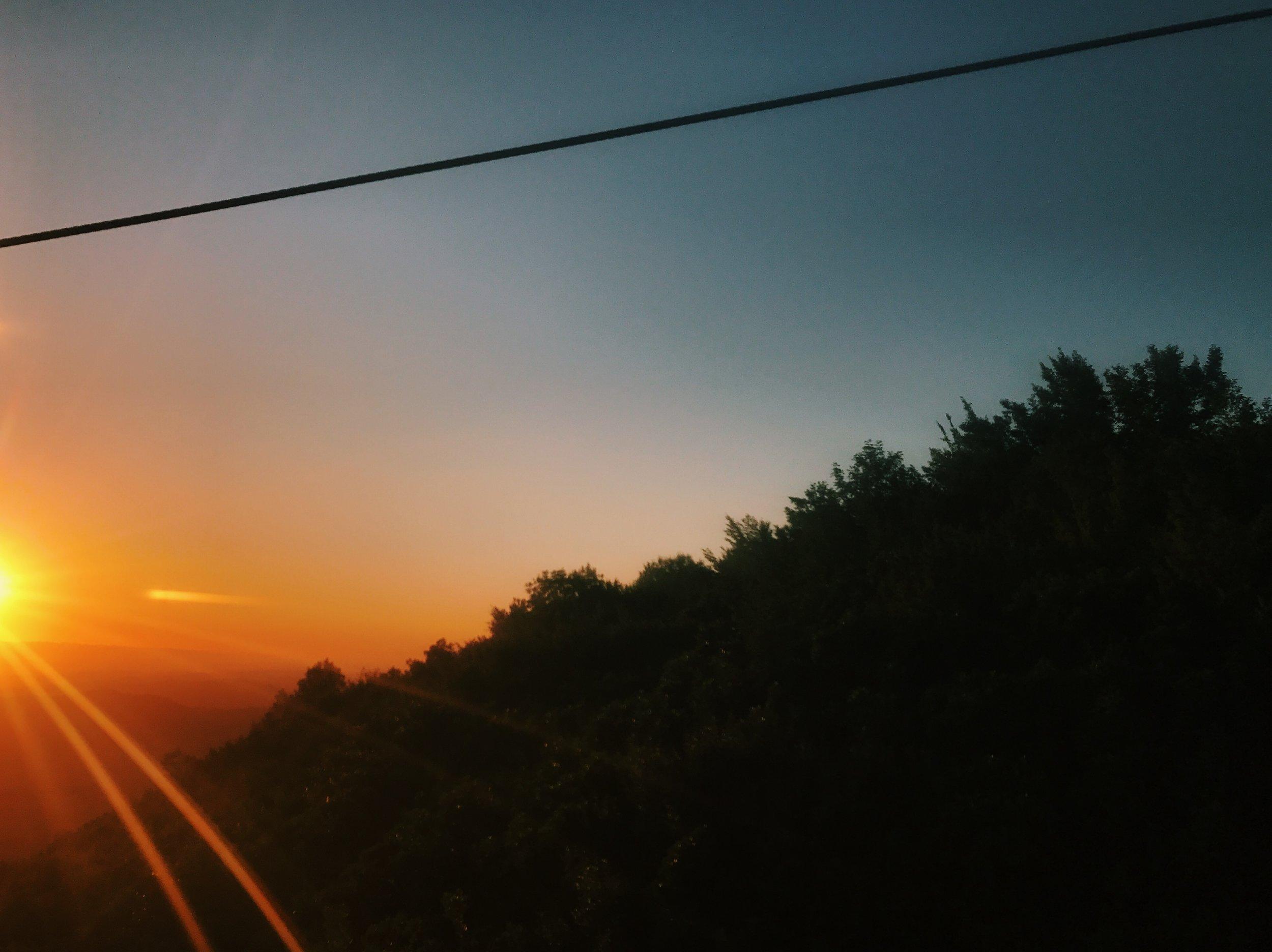 Sunset from Dajti mountain