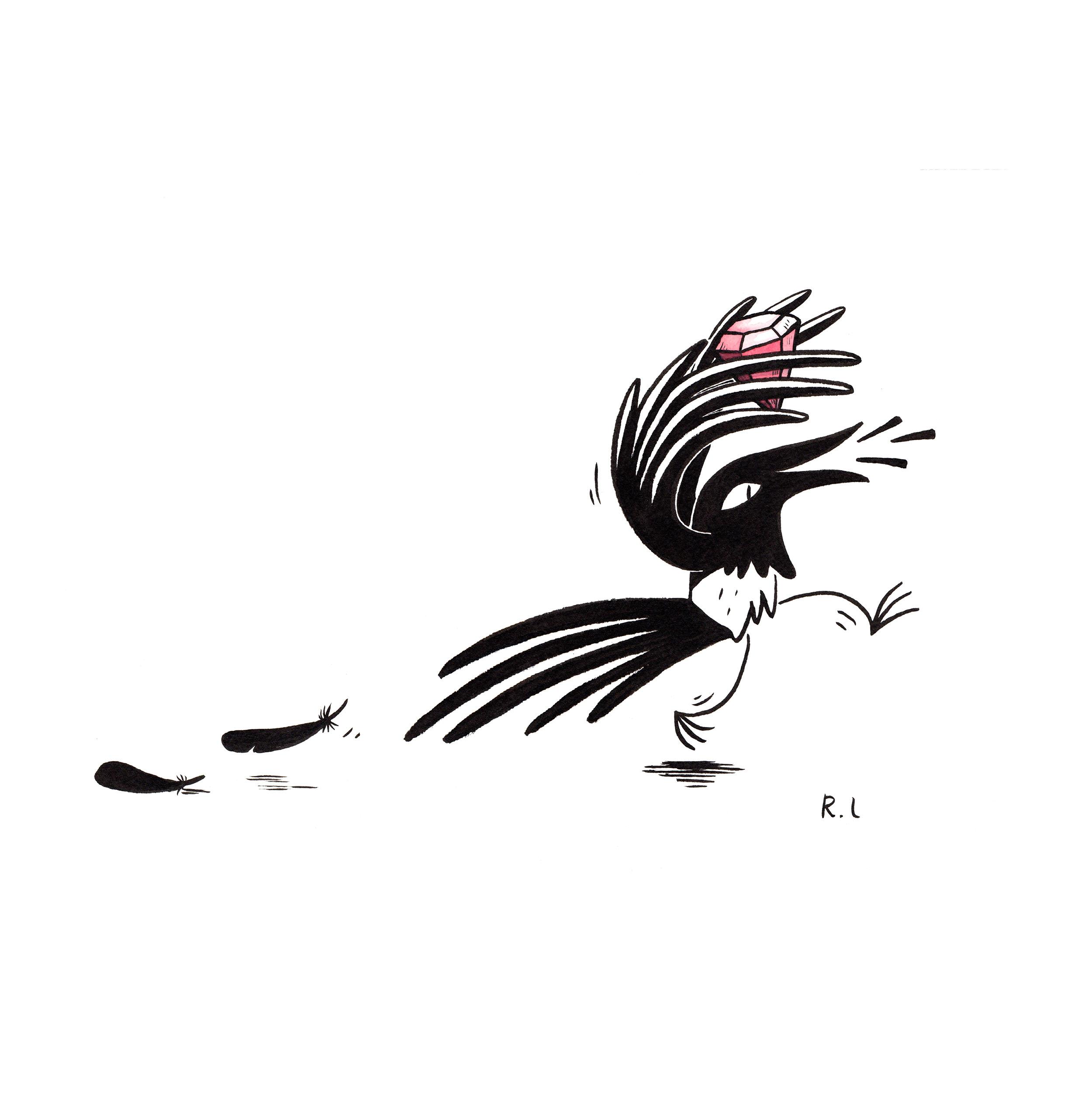 rachel logan illustration magpie steal jewel ruby.jpg