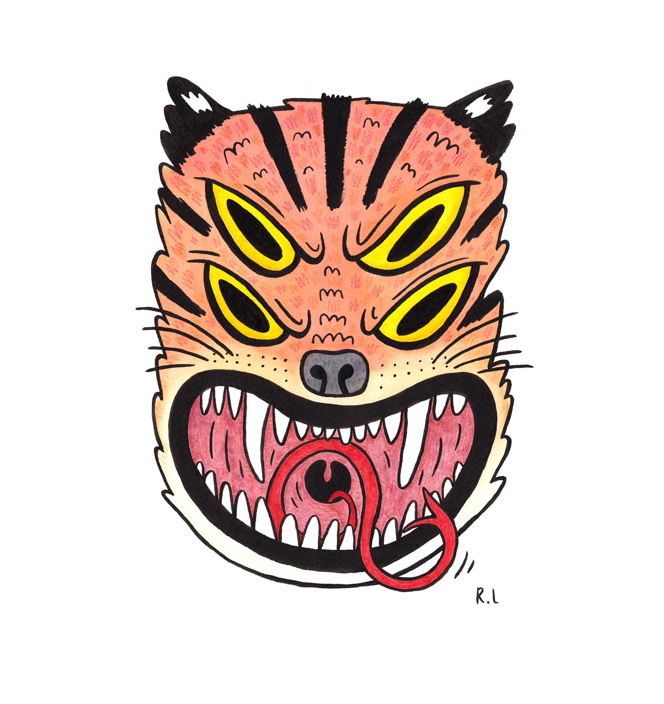 rachel logan illustration tiger tattoo art fierce inktober.jpg