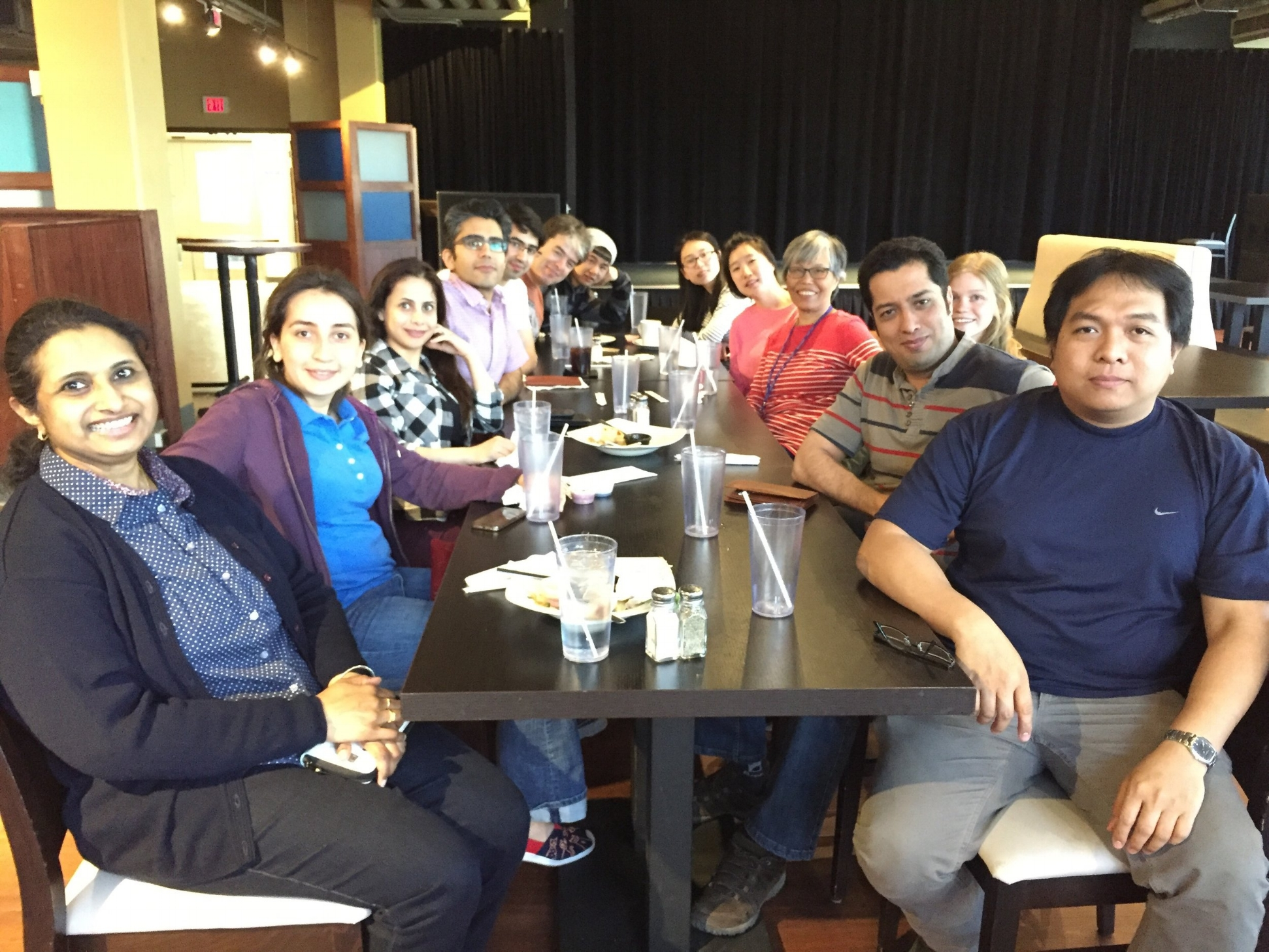 Group Lunch at the Wave, 3rd May, 2017.