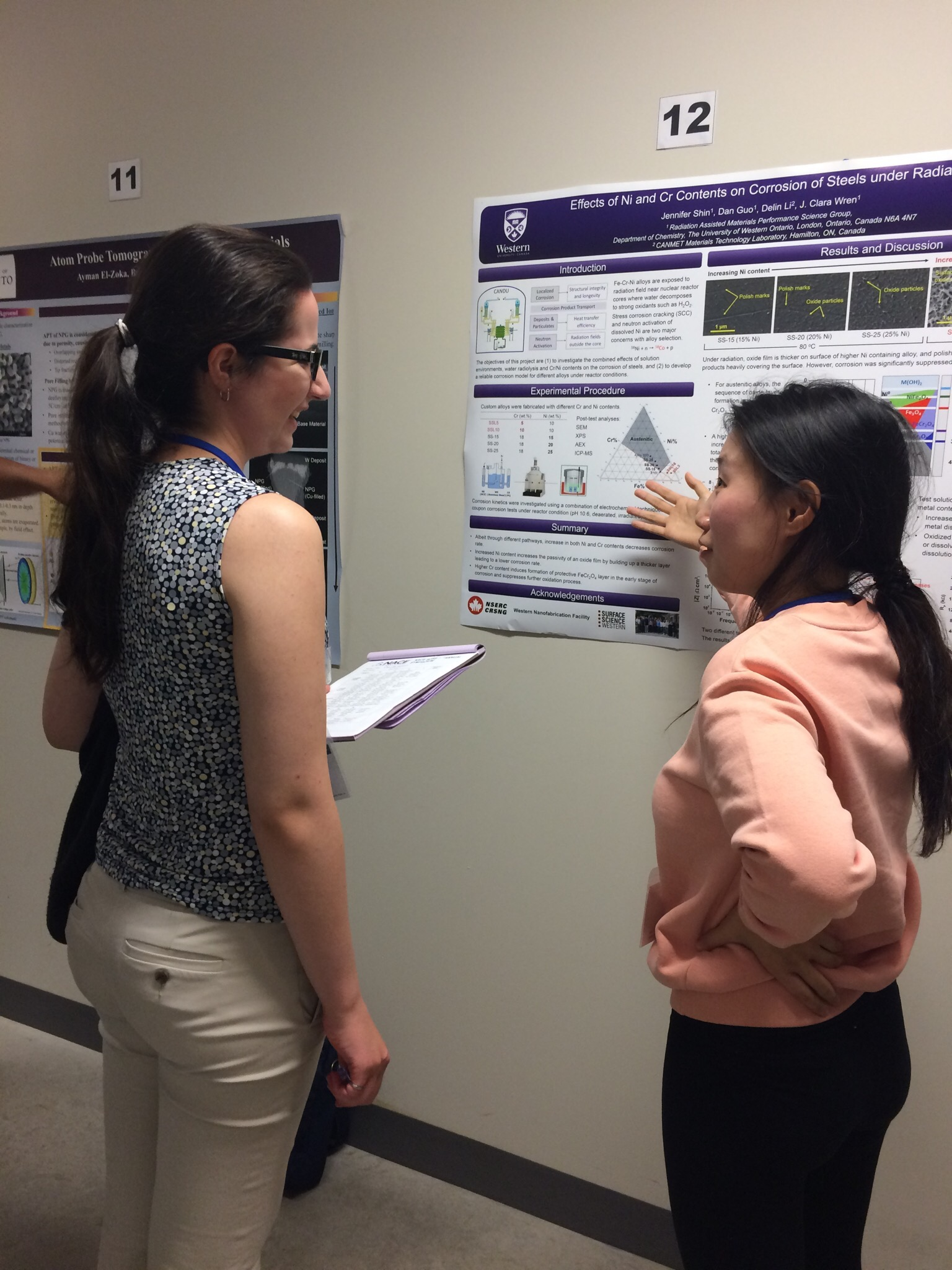 Jennifer Shin presenting her poster at the NACE student conference, 2017.