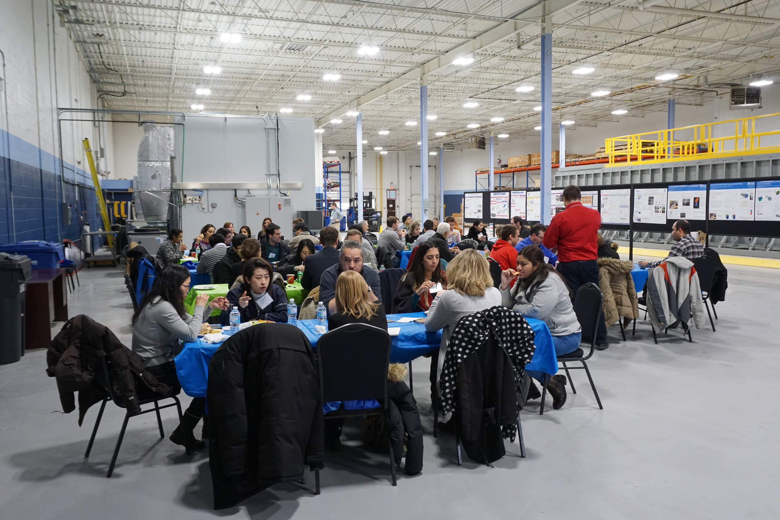 Lunch at the tour of NWMO's Proof Test Facility, February, 2018.