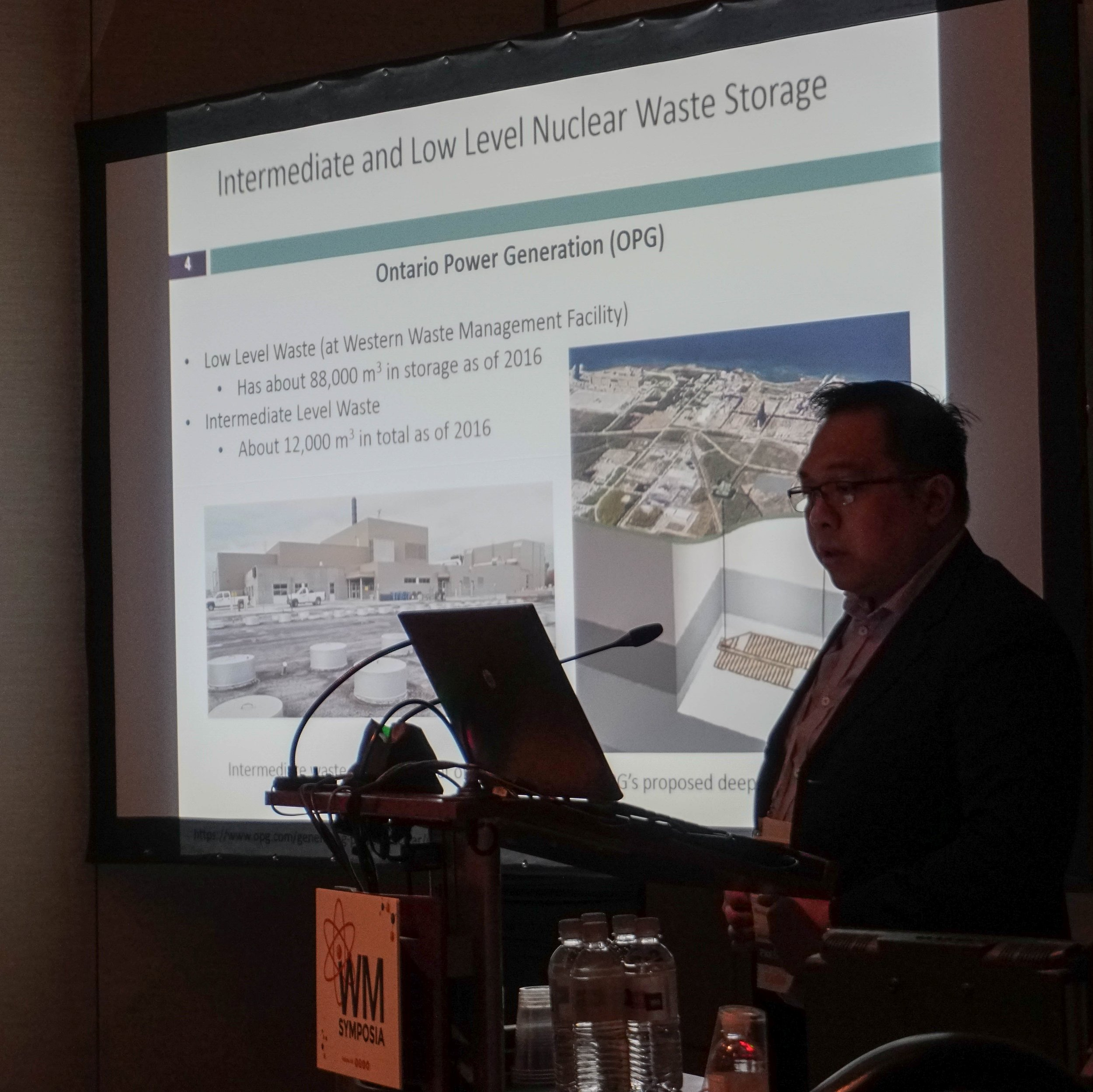 Ryan Morco presenting his work at the Waste Management Conference, March 2019.