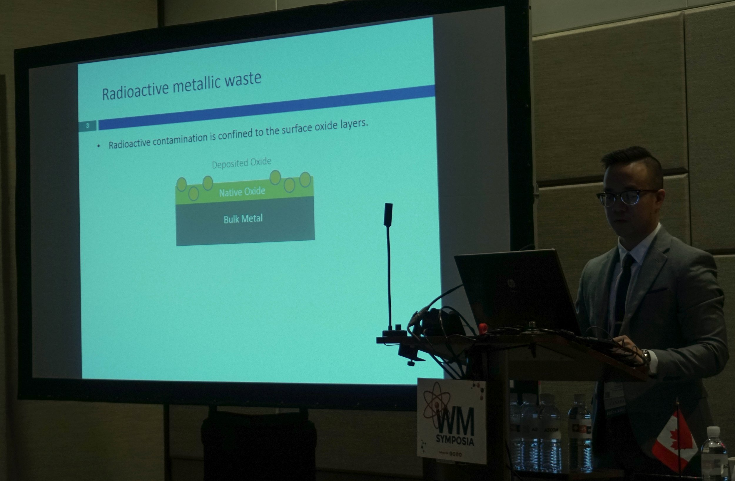 Thao Do presenting his work at the Waste Management Conference, March 2019.
