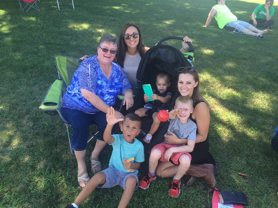 G'ma with some of her favorite kids at one of her favorite spots, the Adel Sweet Corn Festival